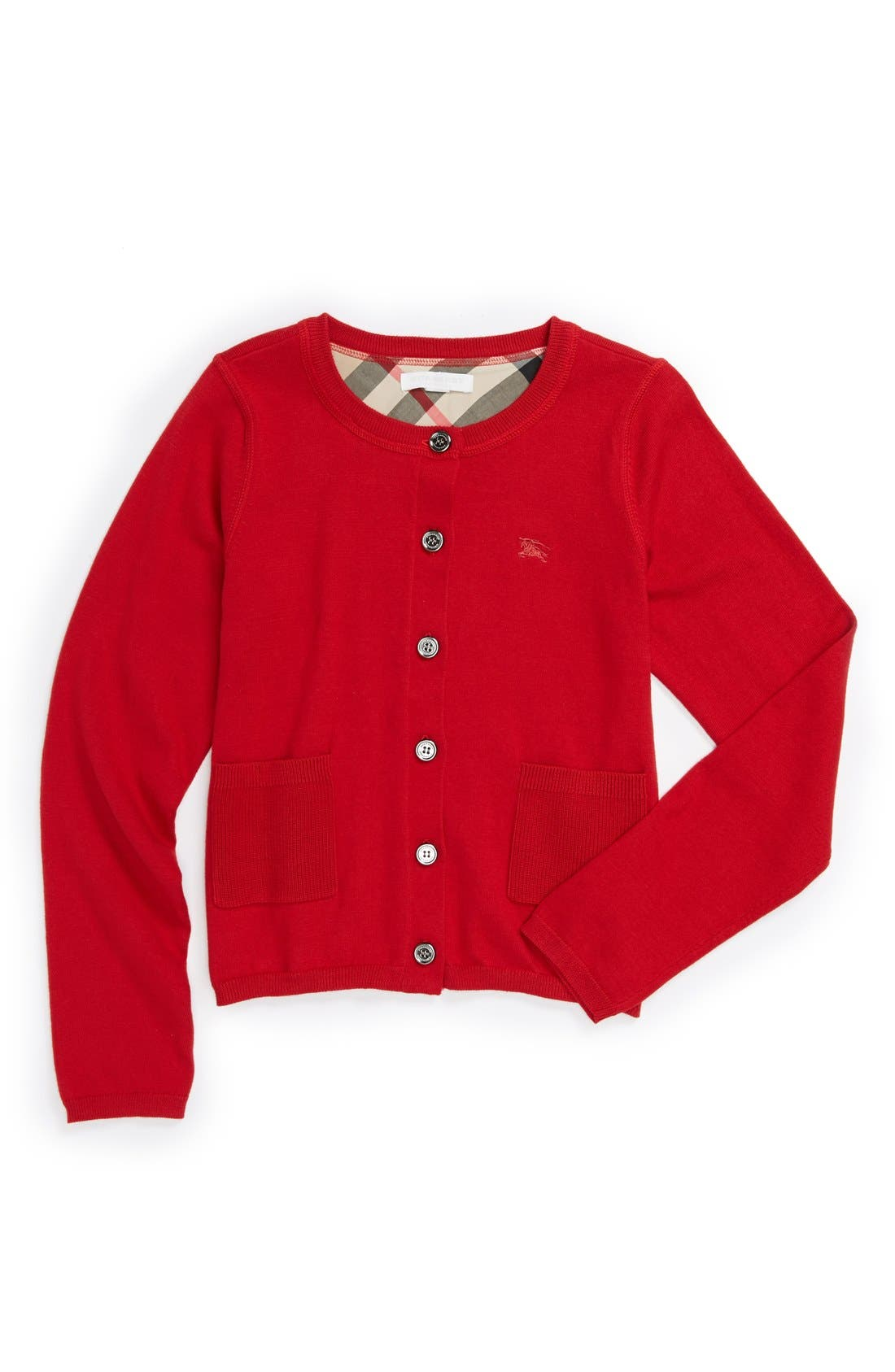 Alternate Image 1 Selected - Burberry 'Kiki' Cardigan (Little Girls & Big Girls)