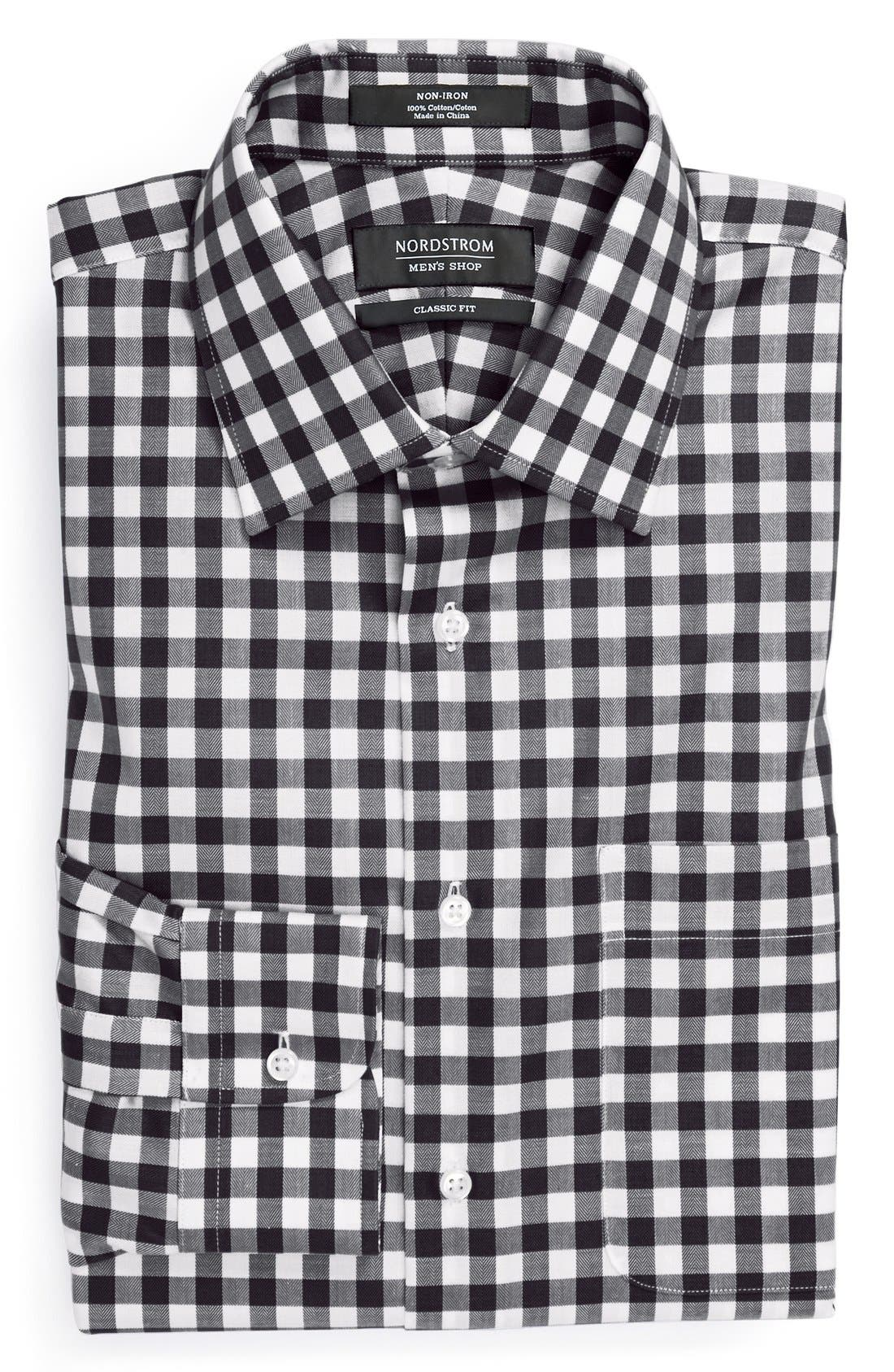 Alternate Image 1 Selected - Nordstrom Classic Fit Non-Iron Check Dress Shirt