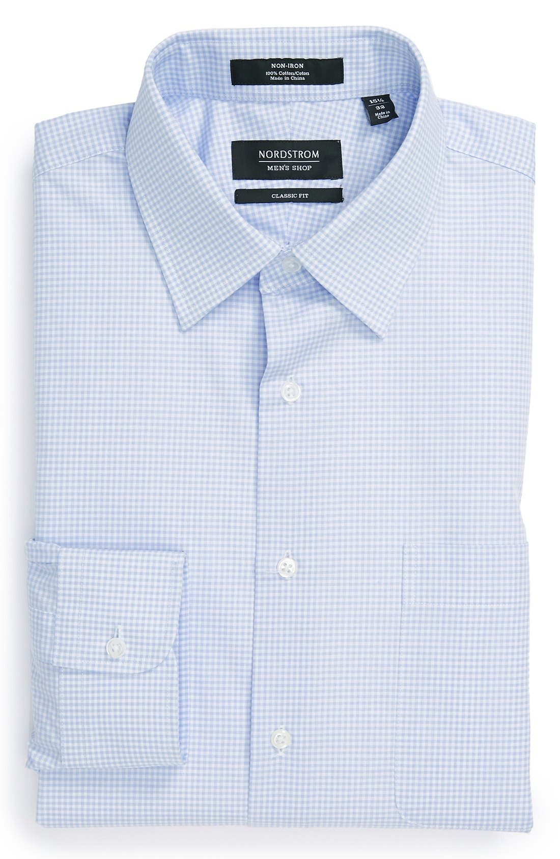 Alternate Image 1 Selected - Nordstrom Classic Fit Non-Iron Check Dress Shirt (Online Only)