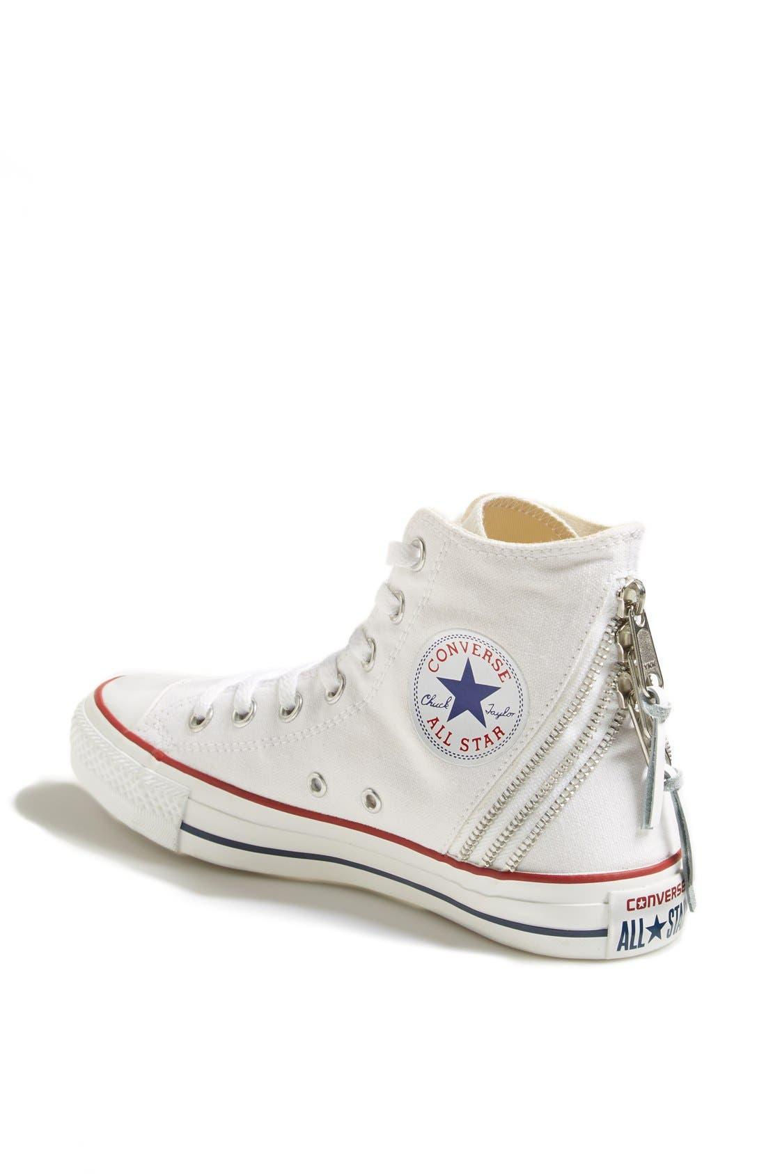 Alternate Image 2  - Converse Chuck Taylor® All Star® Triple Zip Canvas Sneaker (Women)