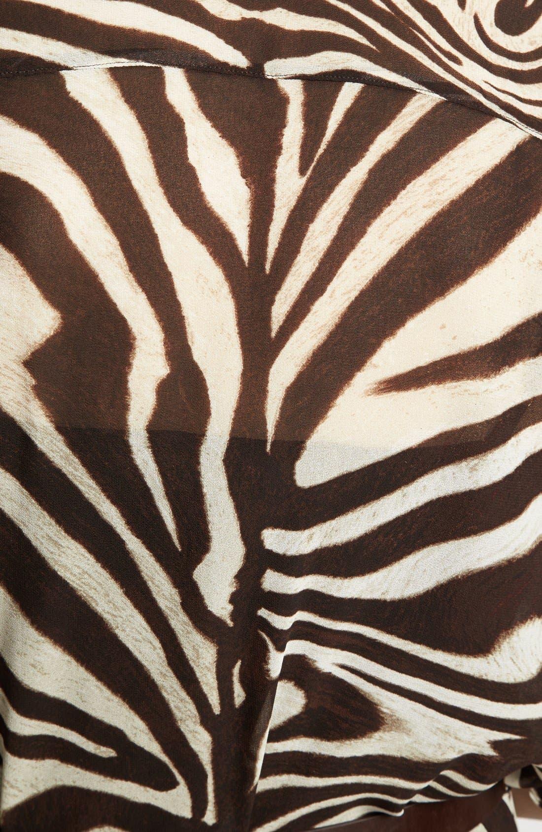 Alternate Image 3  - MICHAEL Michael Kors Belted Maxi Shirt Dress