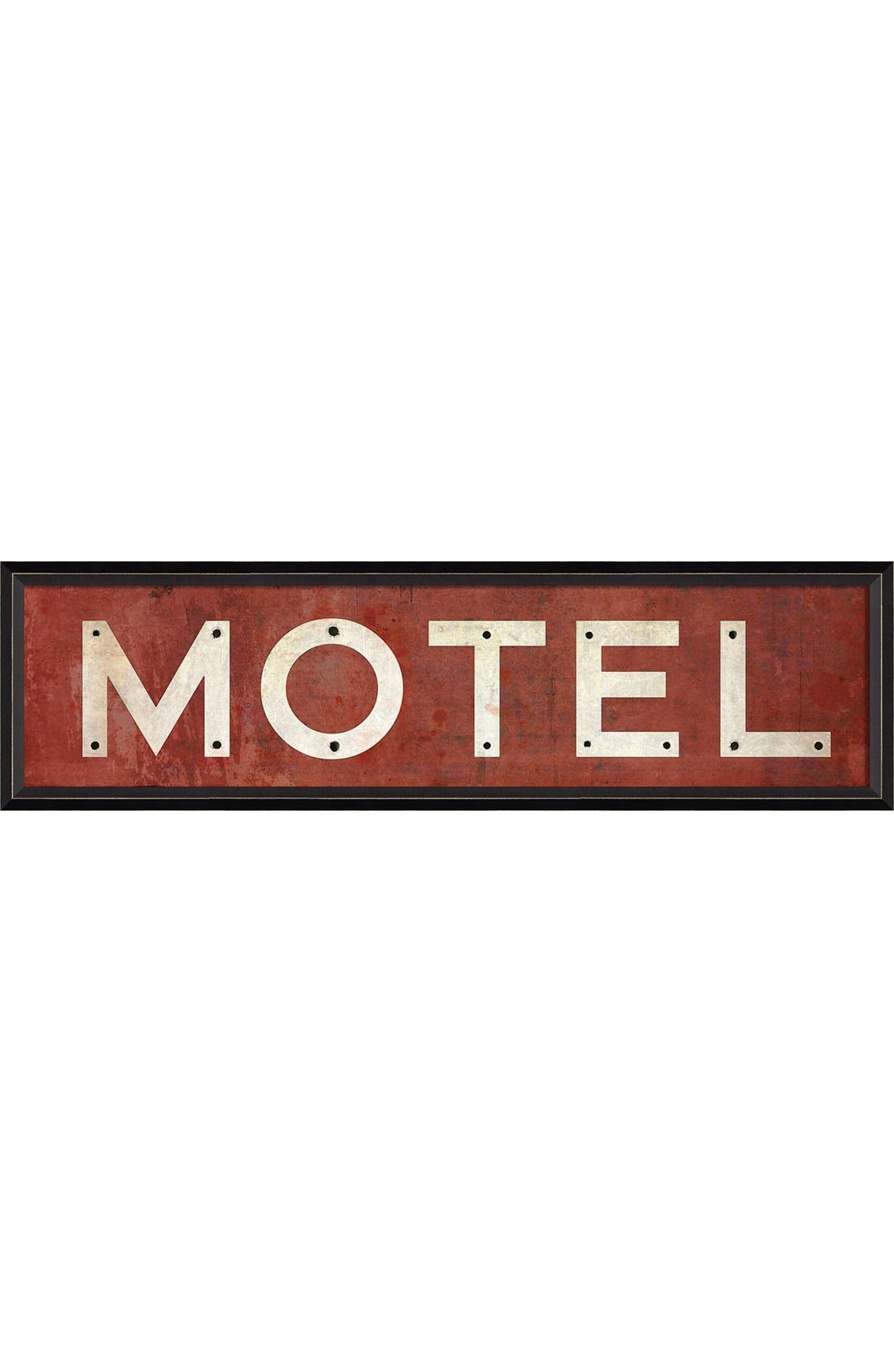 Alternate Image 1 Selected - Spicher and Company 'Motel' Vintage Look Sign Artwork
