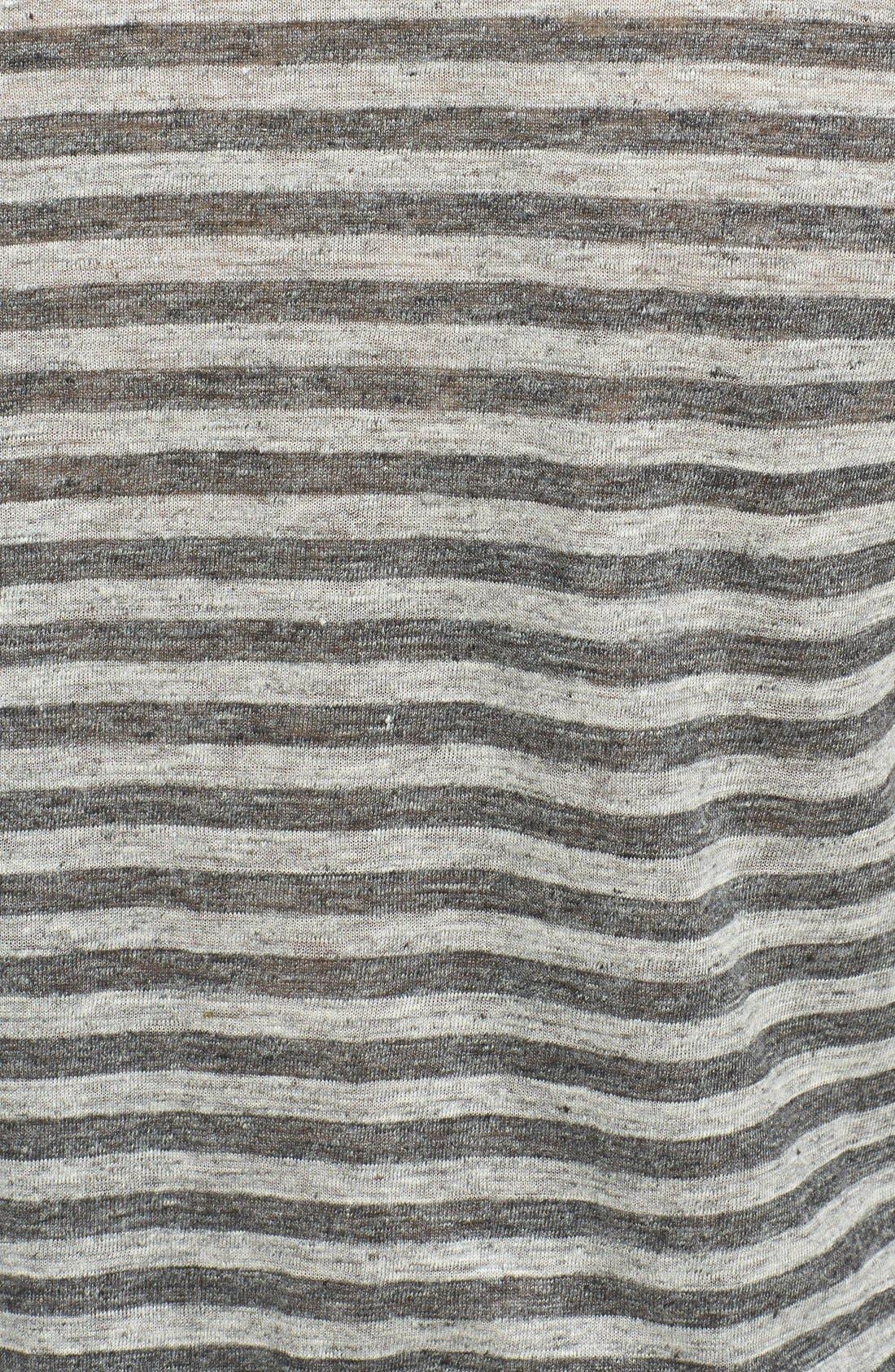 Alternate Image 3  - Vince Stripe Linen Crewneck T-Shirt