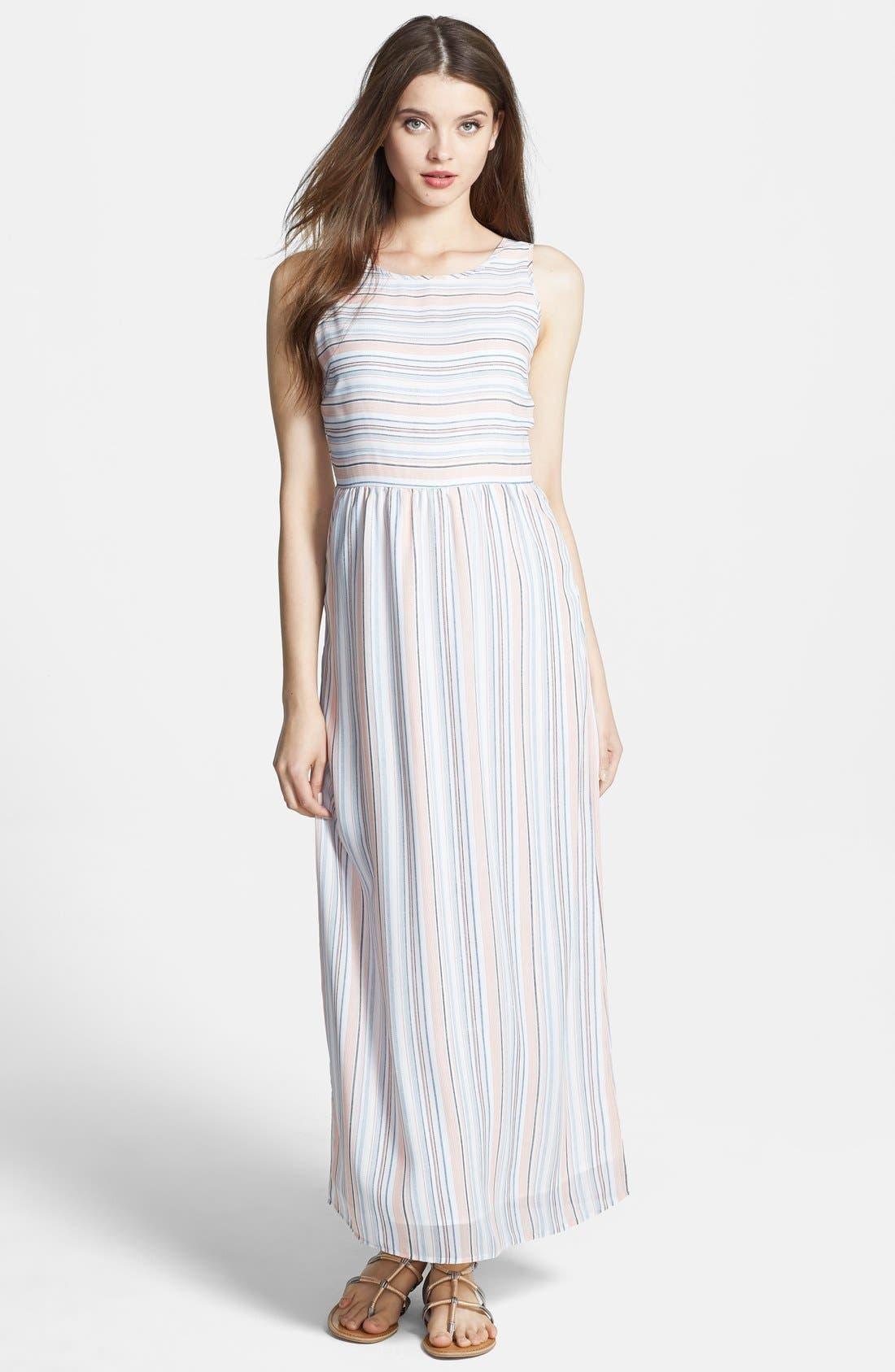 Alternate Image 1 Selected - Olive & Oak Stripe Maxi Dress