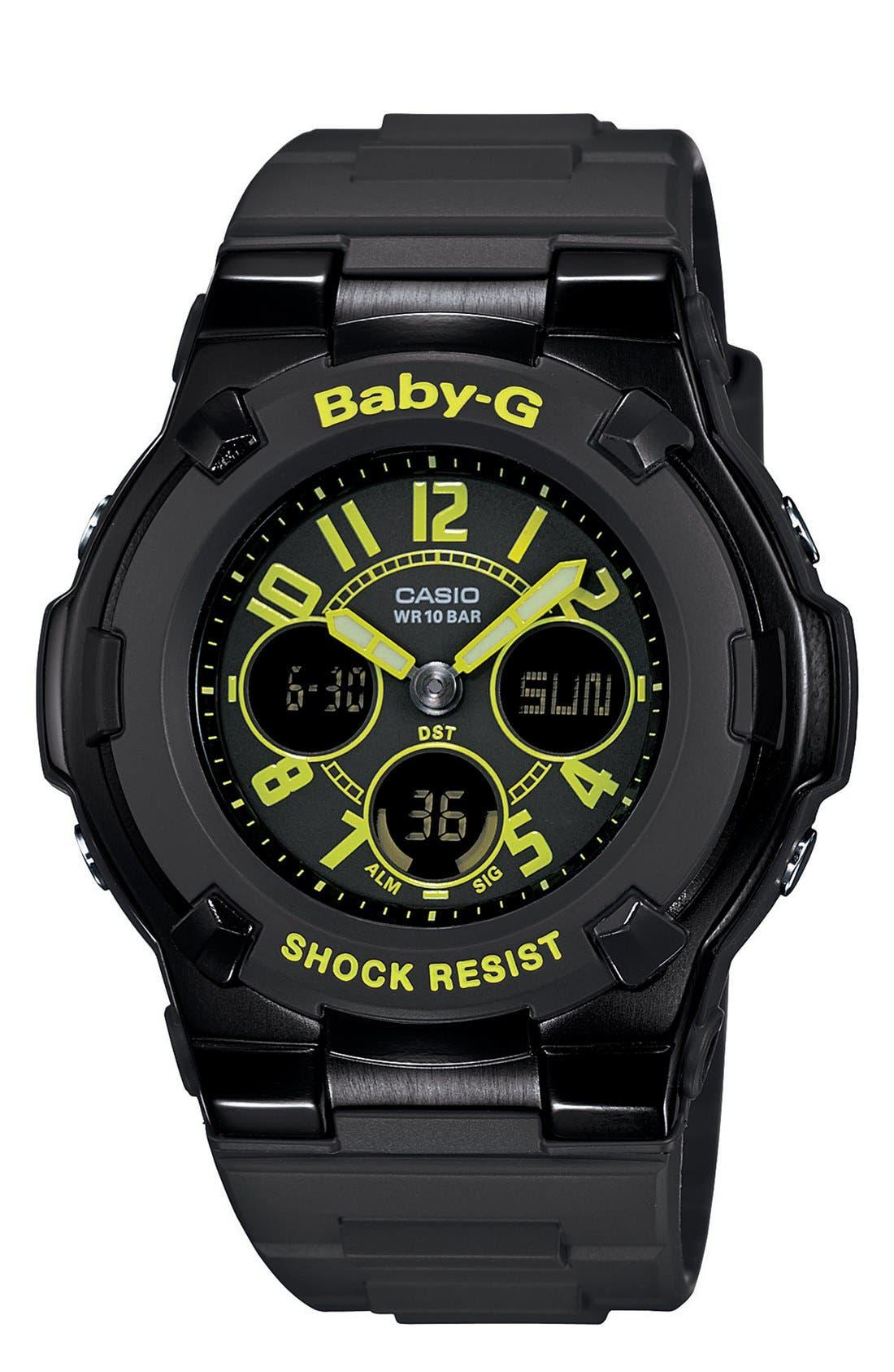 Alternate Image 1 Selected - Baby-G Round Ana-Digi Watch, 40mm