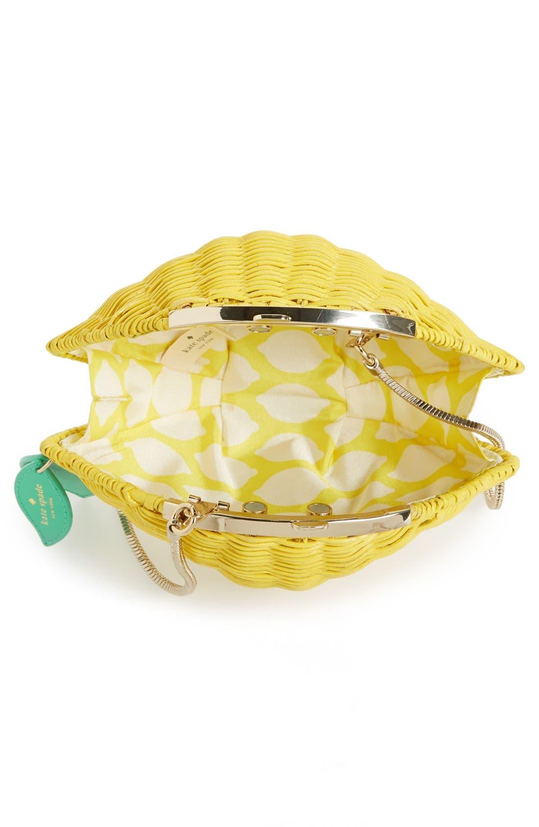 Alternate Image 3  - kate spade new york 'vita riva' wicker lemon crossbody bag