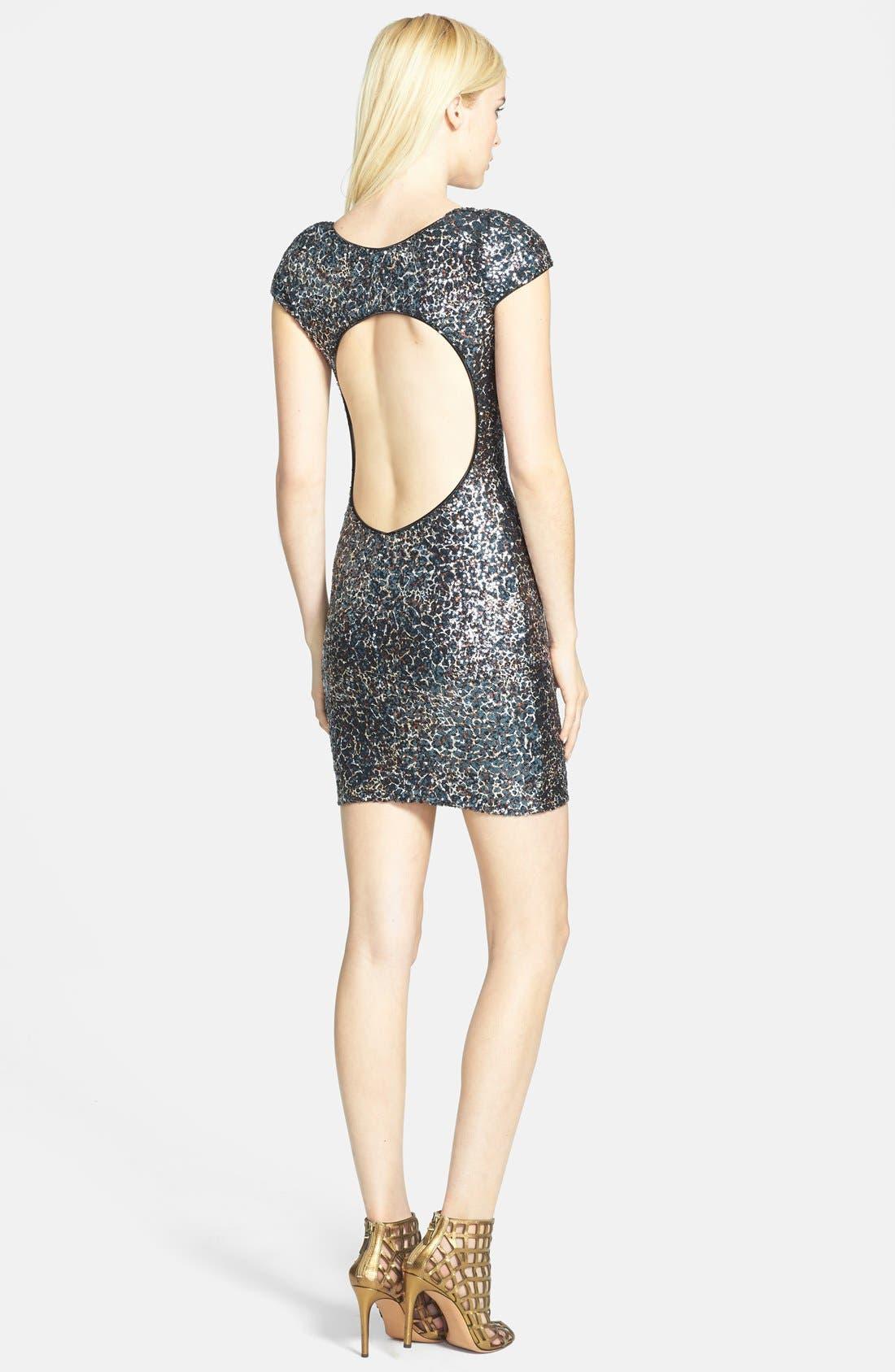 Alternate Image 2  - Dress the Population 'Gabriella' Sequin Body-Con Dress