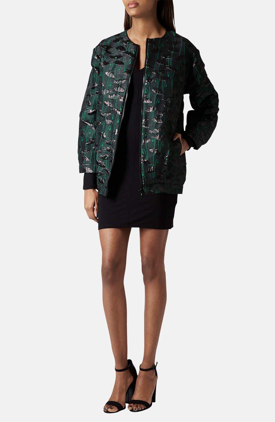 Alternate Image 5  - Topshop Seam Detail Jersey Body-Con Dress