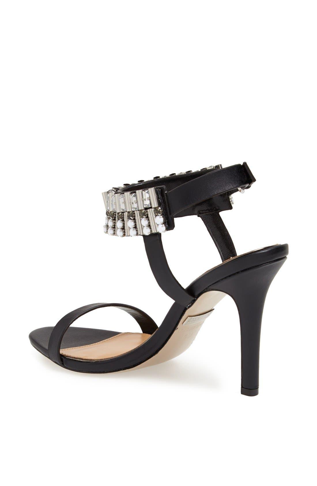 Alternate Image 2  - Badgley Mischka 'Kallan' Crystal Cuff Leather Sandal