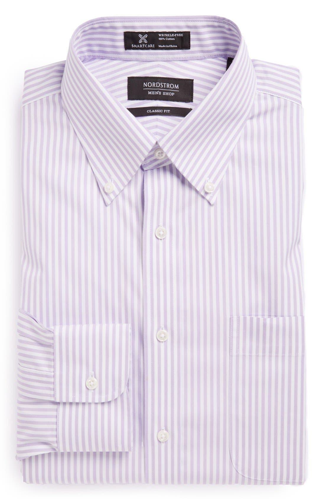 Main Image - Nordstrom Men's Shop Smartcare™ Classic Fit Stripe Dress Shirt (Online Only)