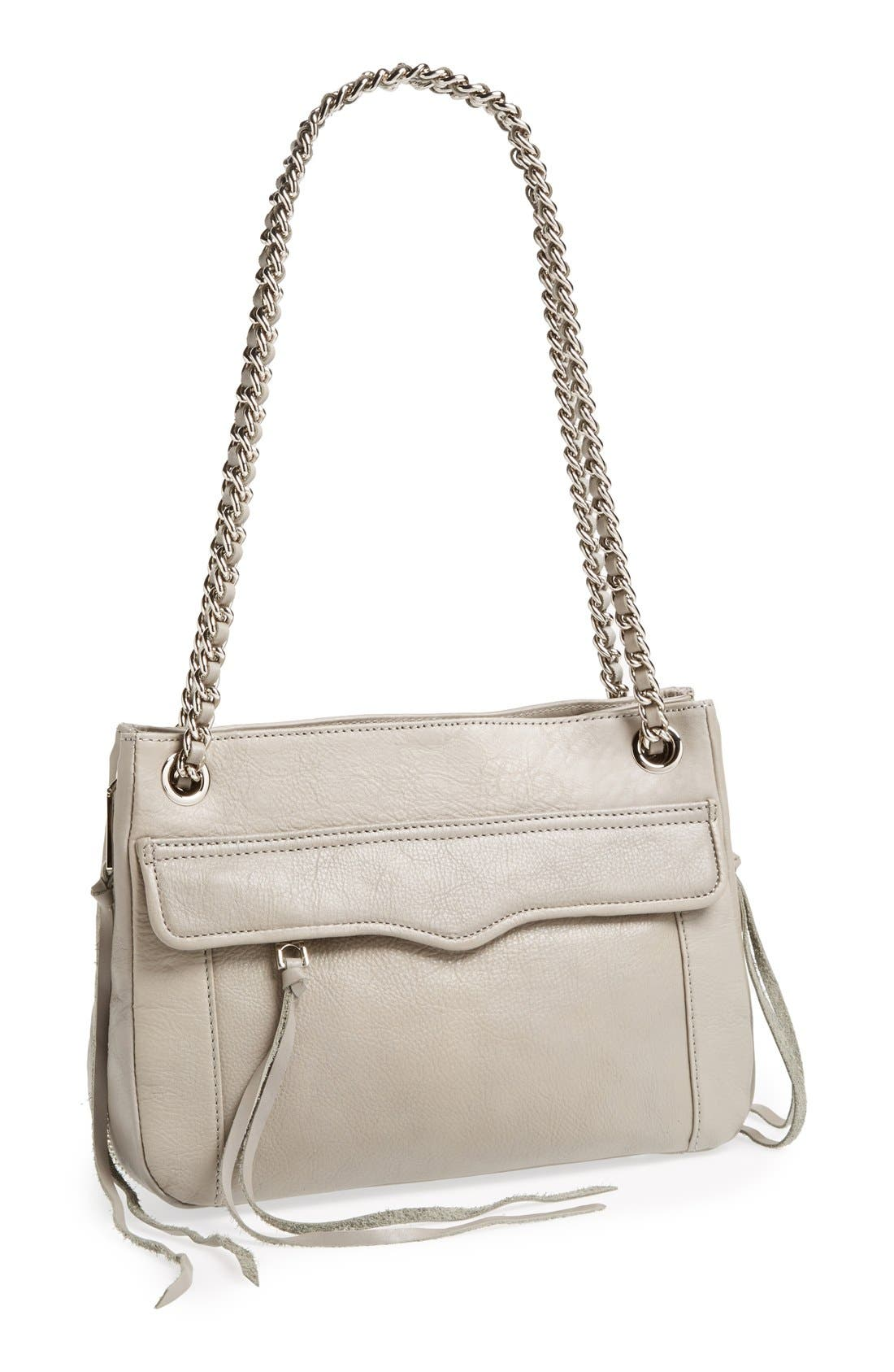Main Image - Rebecca Minkoff 'Swing' Double Chain Leather Shoulder Bag