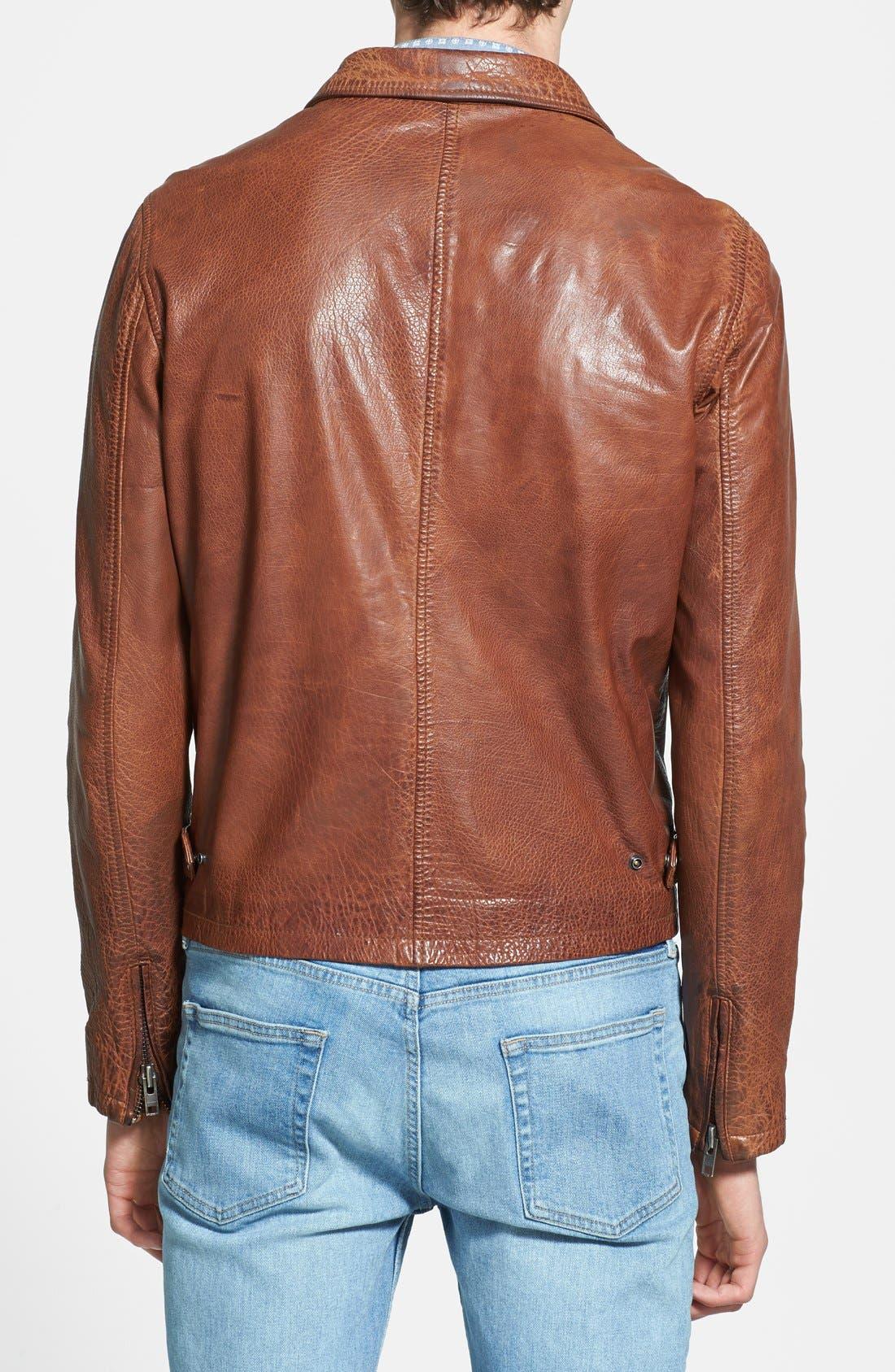 Alternate Image 2  - Nudie Jeans 'Ervin '50s' Leather Jacket
