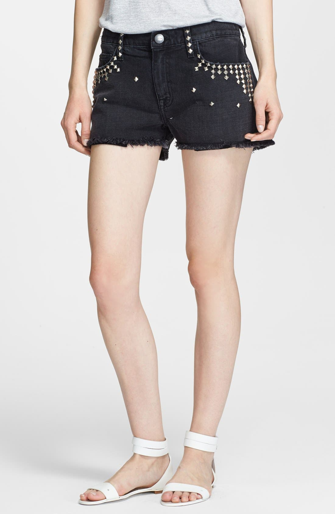 Main Image - Current/Elliott 'The Boyfriend' Studded Shorts