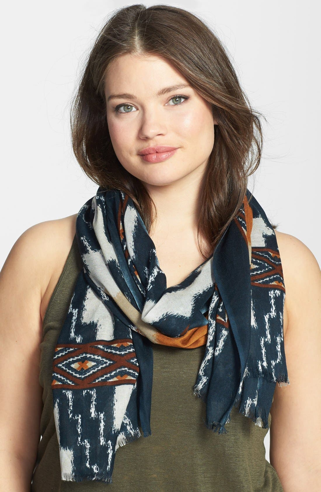 Alternate Image 1 Selected - Lucky Brand Border Print Scarf