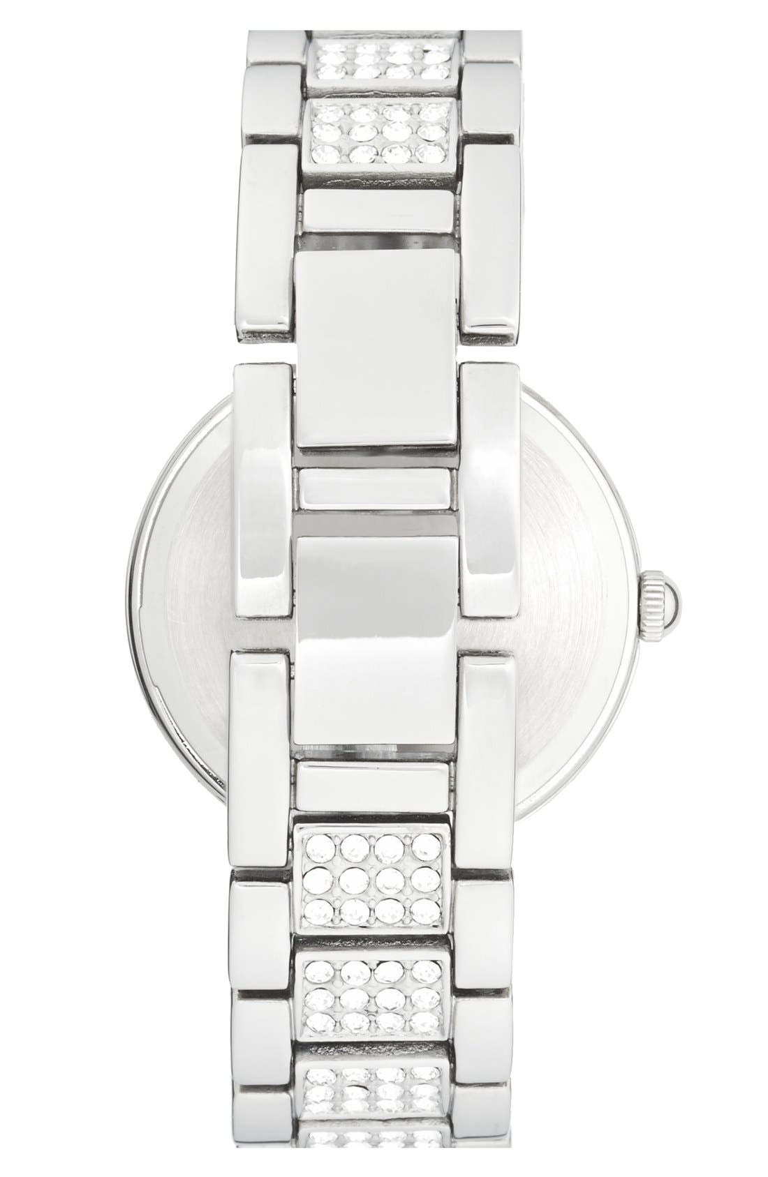 Alternate Image 2  - Anne Klein Pavé Crystal Bracelet Watch, 32mm