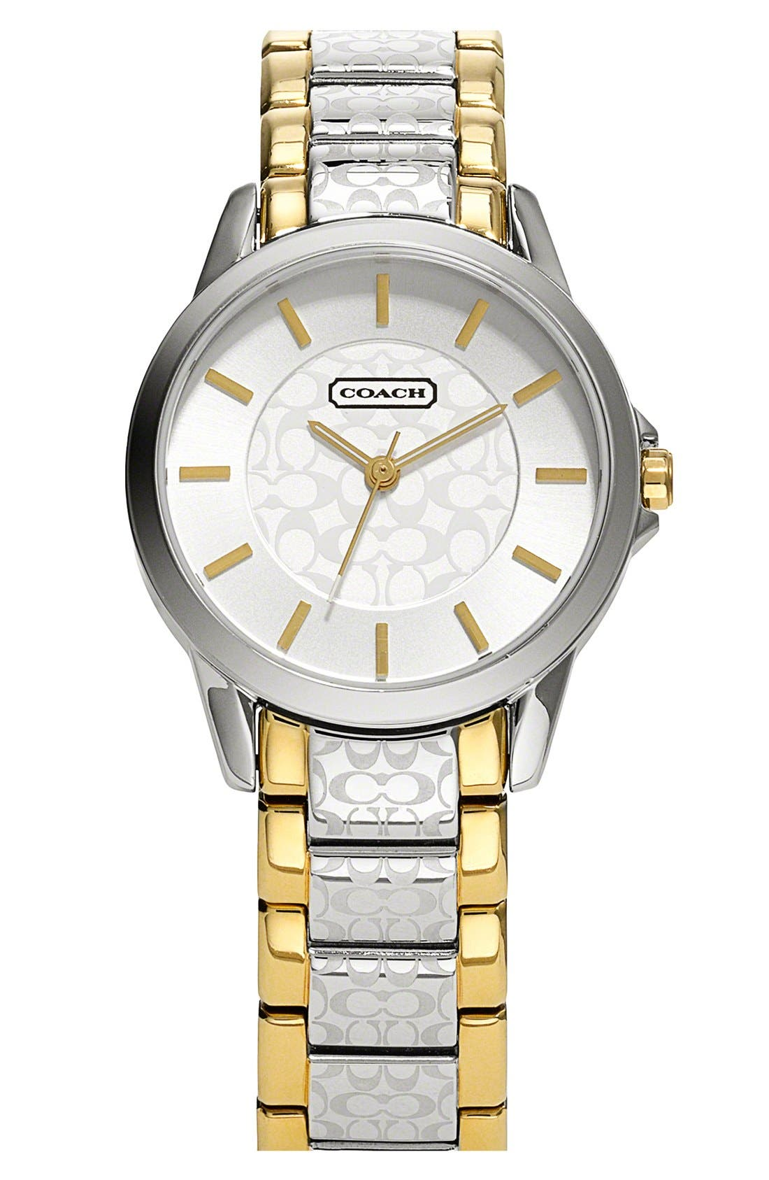 Alternate Image 1 Selected - COACH 'Classic Signature' Bracelet Watch, 34mm