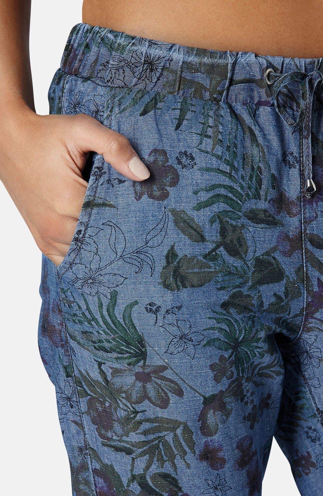 Alternate Image 4  - Topshop Moto Floral Print Jogger Pants