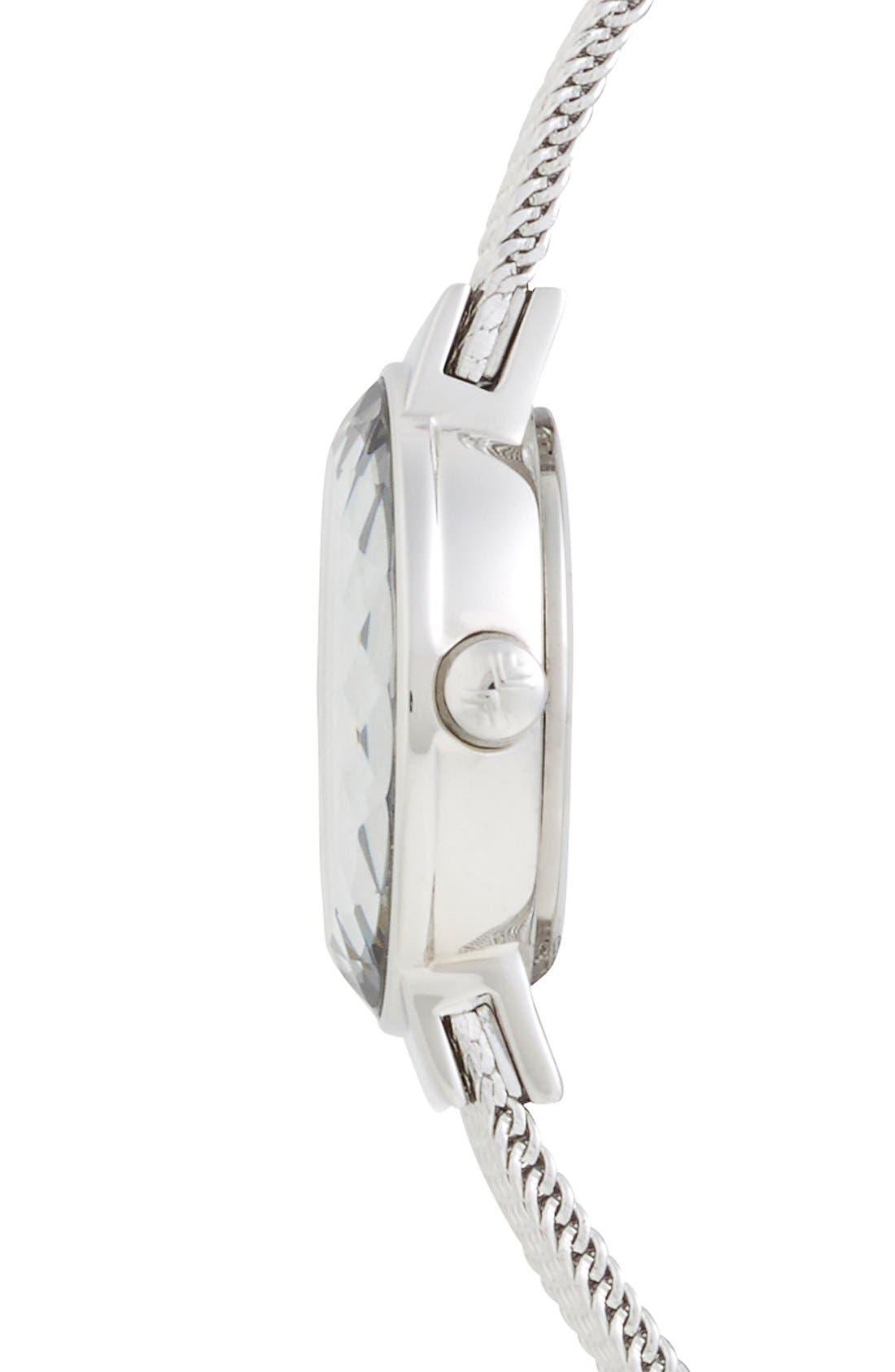 Alternate Image 3  - Skagen 'Leonora' Faceted Bezel Mesh Strap Watch, 20mm (Nordstrom Exclusive)