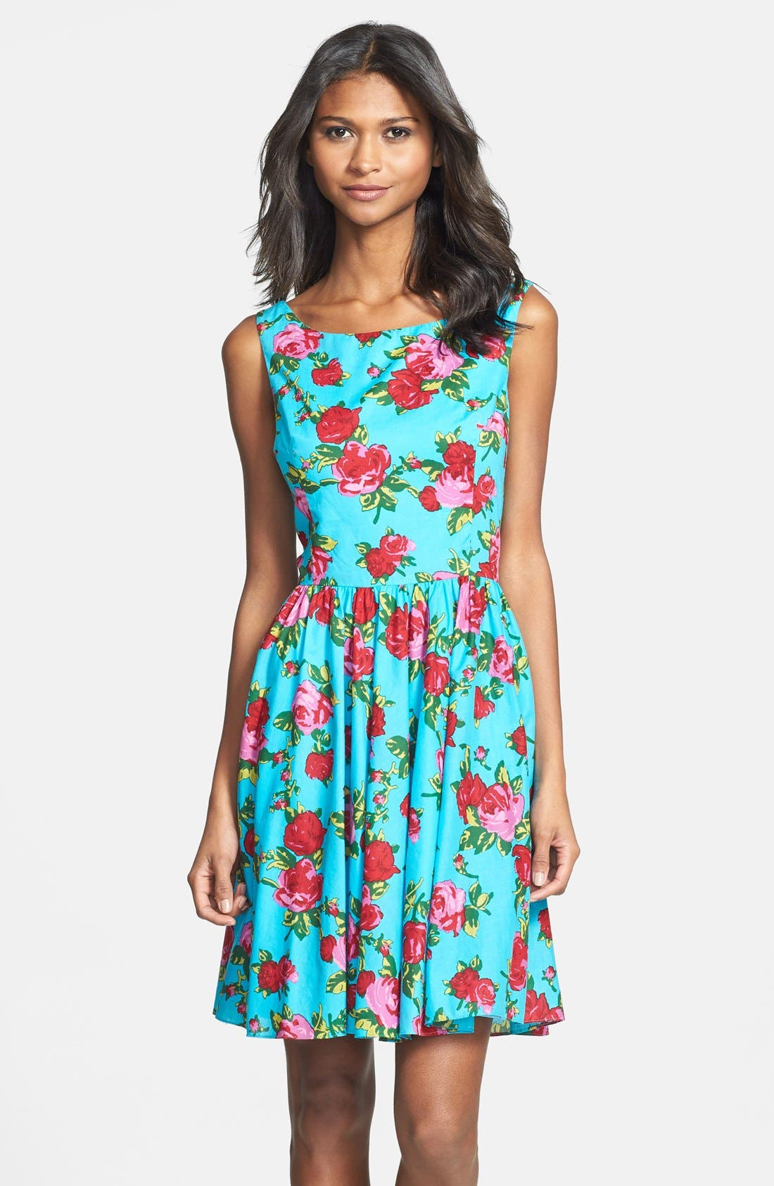 Alternate Image 1 Selected - Betsey Johnson Floral Fit & Flare Dress