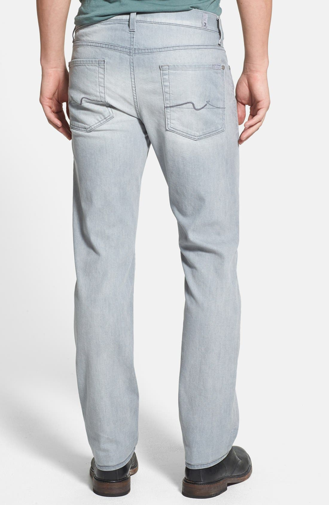 Alternate Image 2  - 7 For All Mankind® 'Slimmy' Slim Straight Leg Jeans (Ghost Grey)