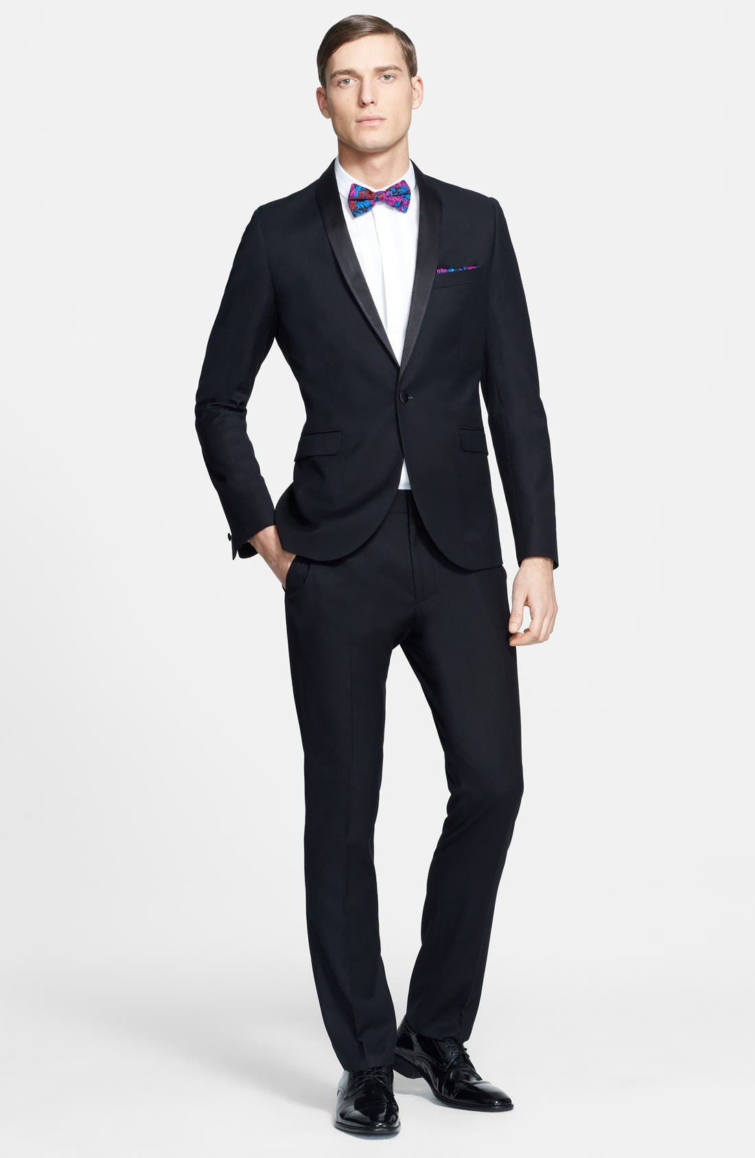 Alternate Image 4  - Topman Skinny Fit Jacquard Tuxedo Jacket