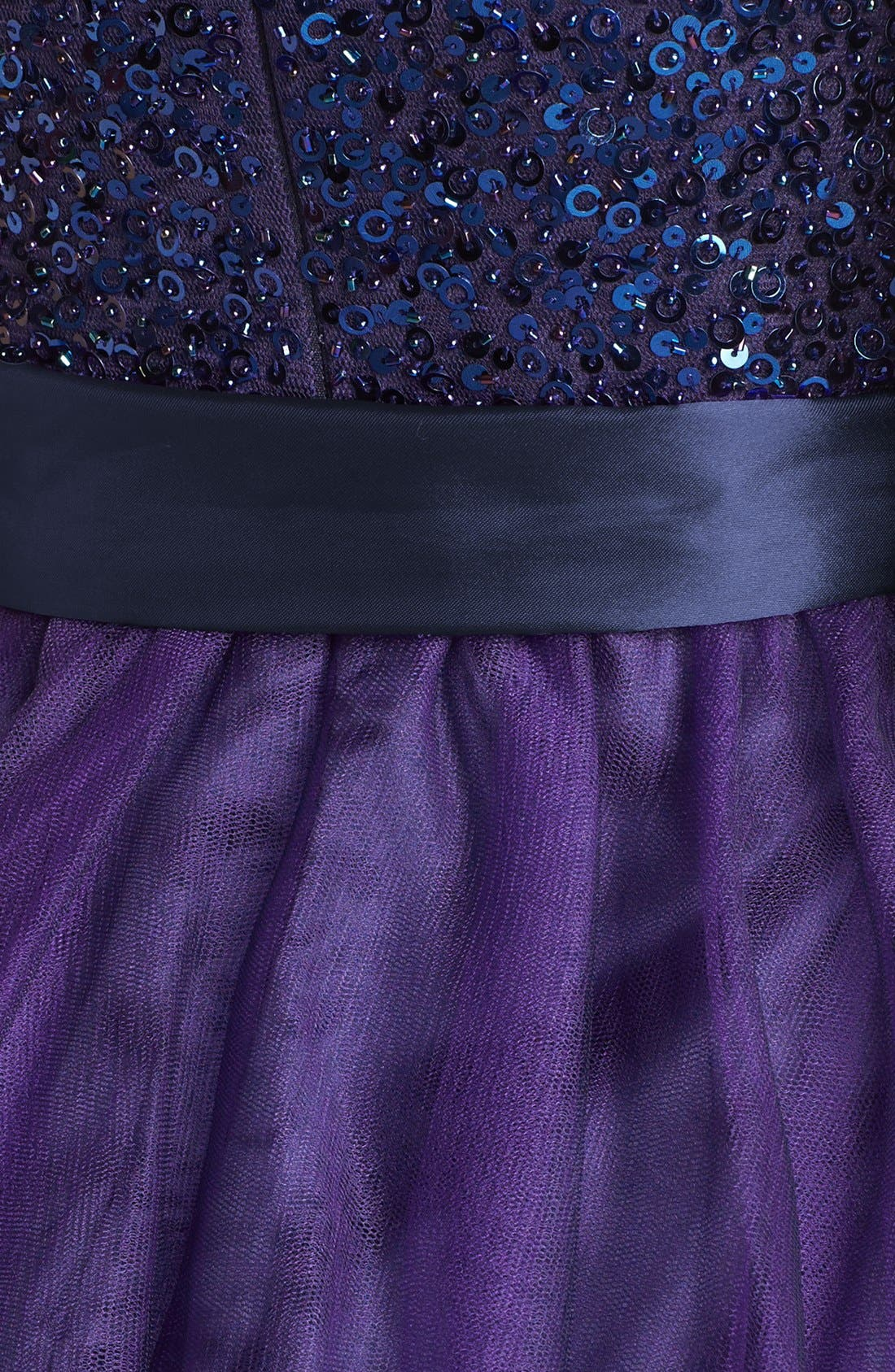 Alternate Image 3  - Sean Collection Embellished Strapless Tulle Cocktail Dress (Online Only)