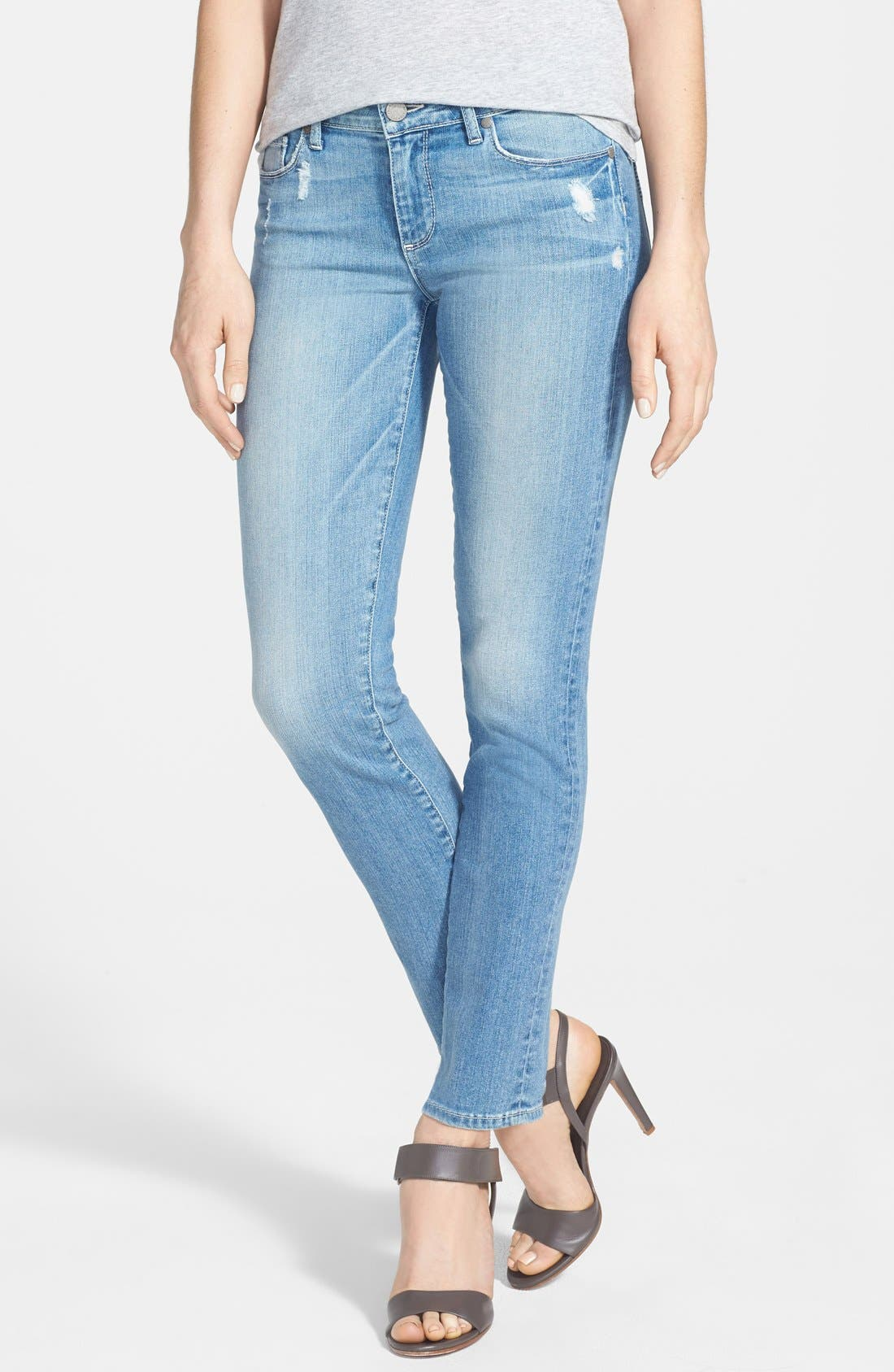 Main Image - Paige Denim 'Skyline' Ankle Peg Skinny Jeans (Whitley)