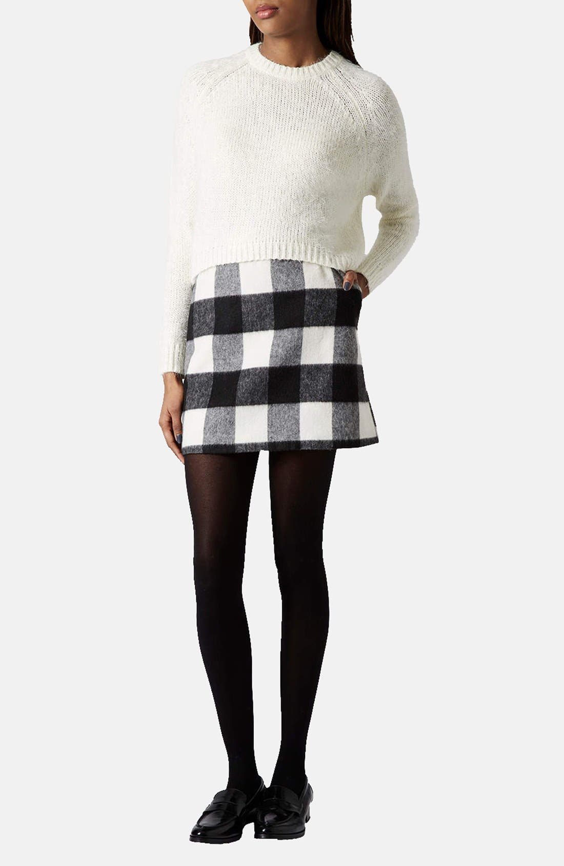 Alternate Image 4  - Topshop Textured Knit Sweater