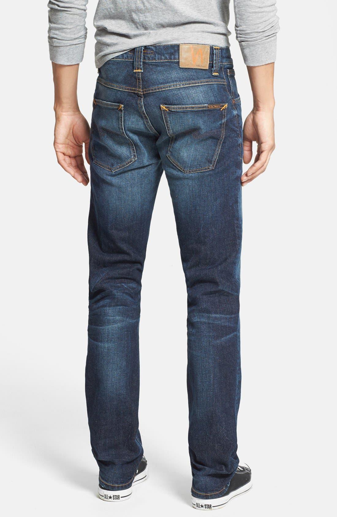 Alternate Image 2  - Nudie Jeans 'Grim Tim' Skinny Fit Jeans (Organic Clean Dark Blue)
