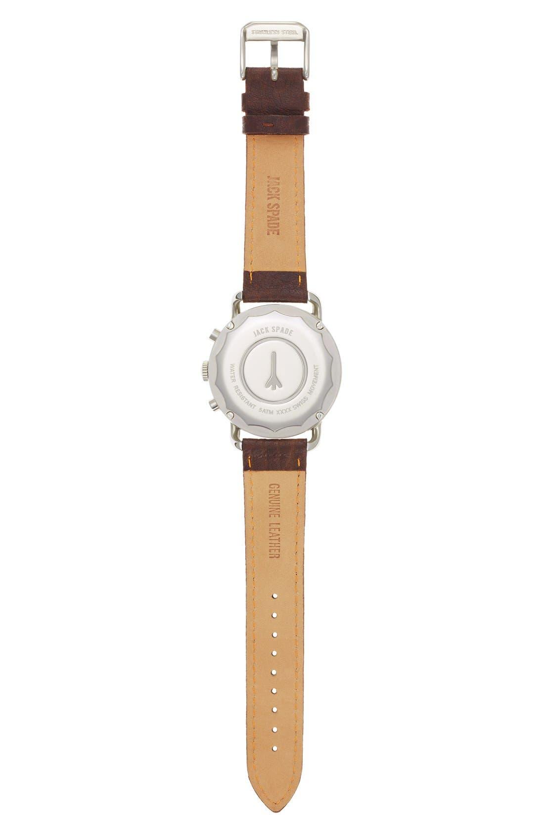 Alternate Image 2  - Jack Spade 'Frasier' Chronograph Leather Strap Watch, 42mm