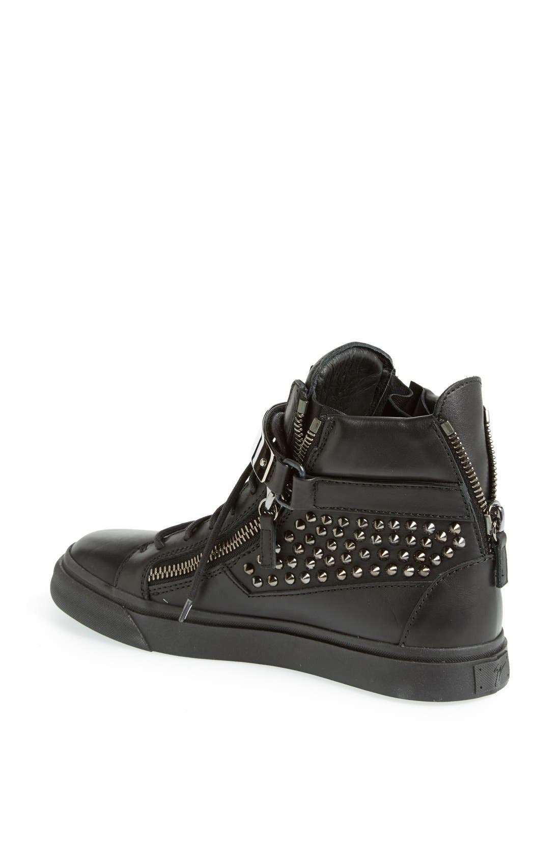 Alternate Image 2  - Giuseppe Zanotti Studded High Top Sneaker (Women)