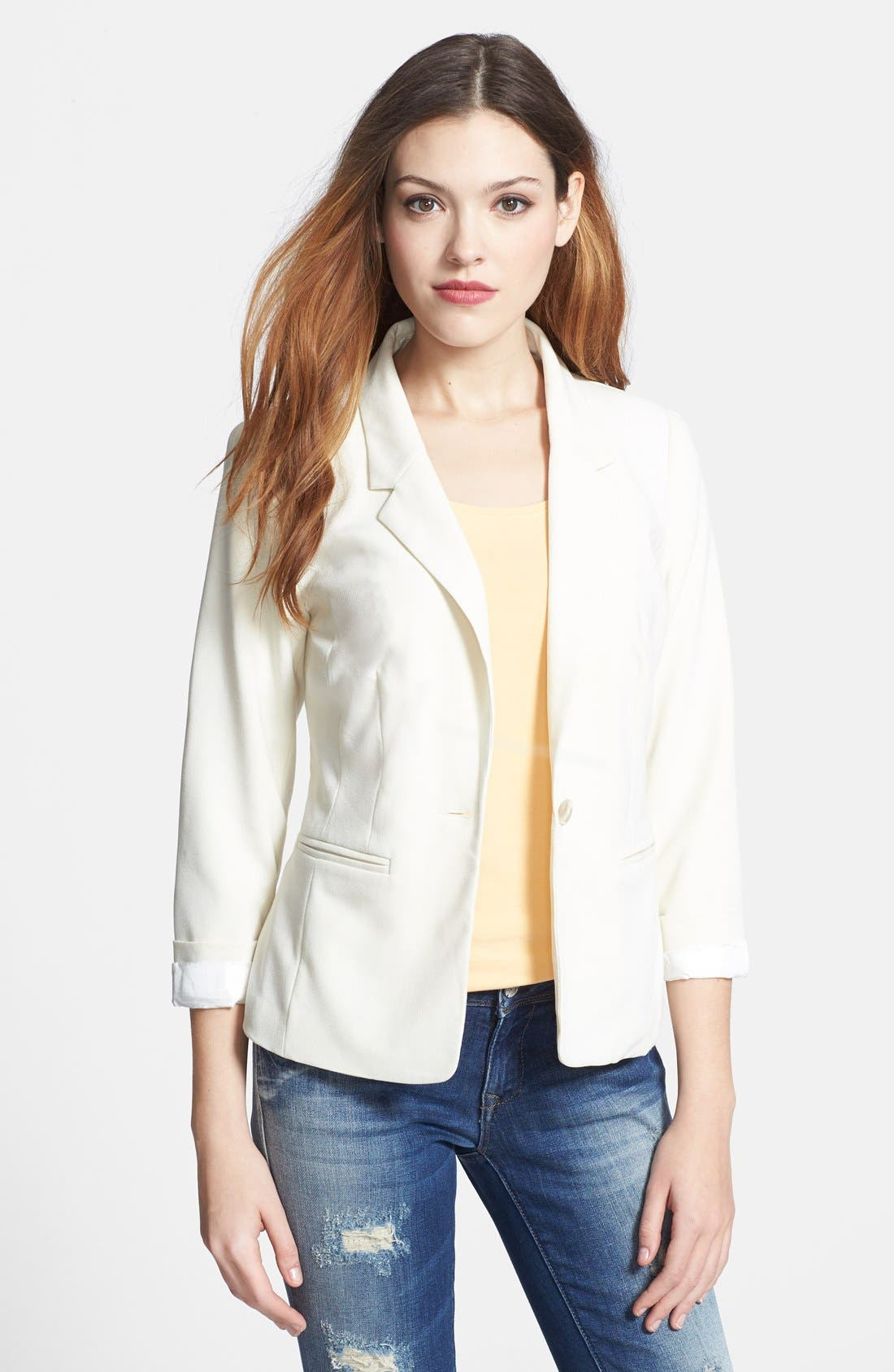 Alternate Image 1 Selected - kensie Stretch Crepe Blazer