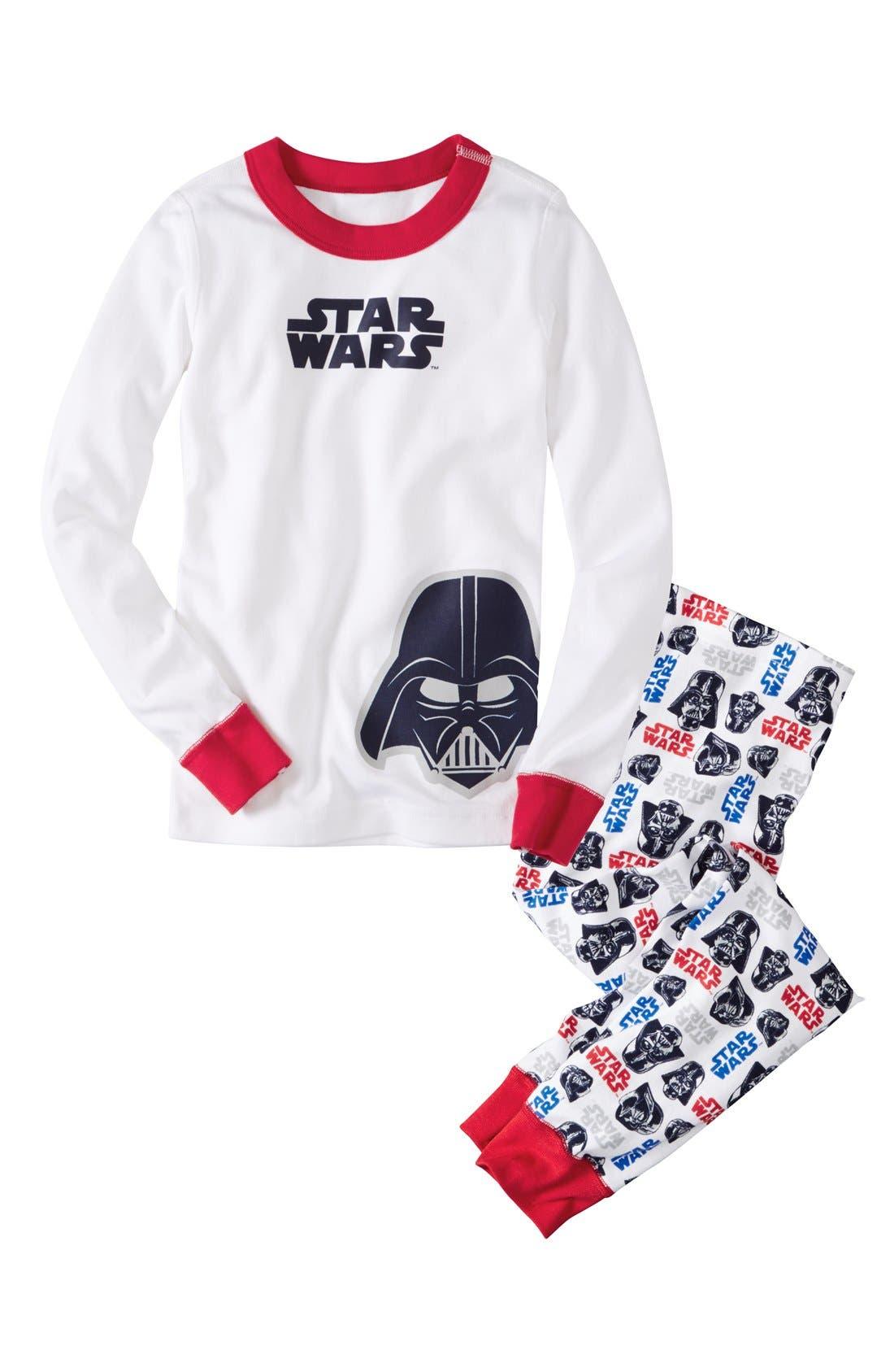 Main Image - Hanna Andersson 'Star Wars™ - Darth Vader' Two-Piece Pajamas (Toddler Boys, Little Boys & Big Boys)