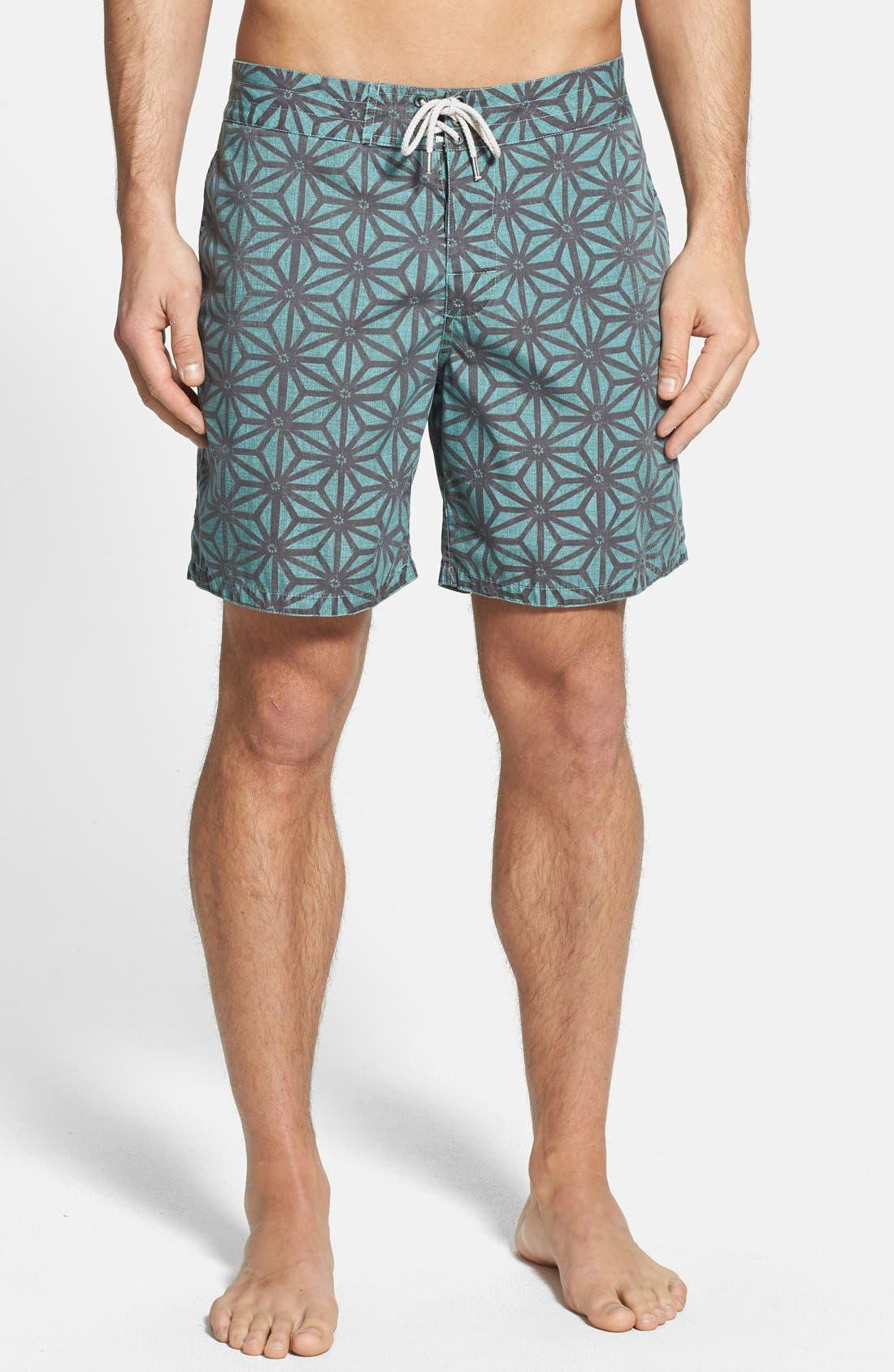 Alternate Image 1 Selected - Faherty 'Classic' Print Board Shorts