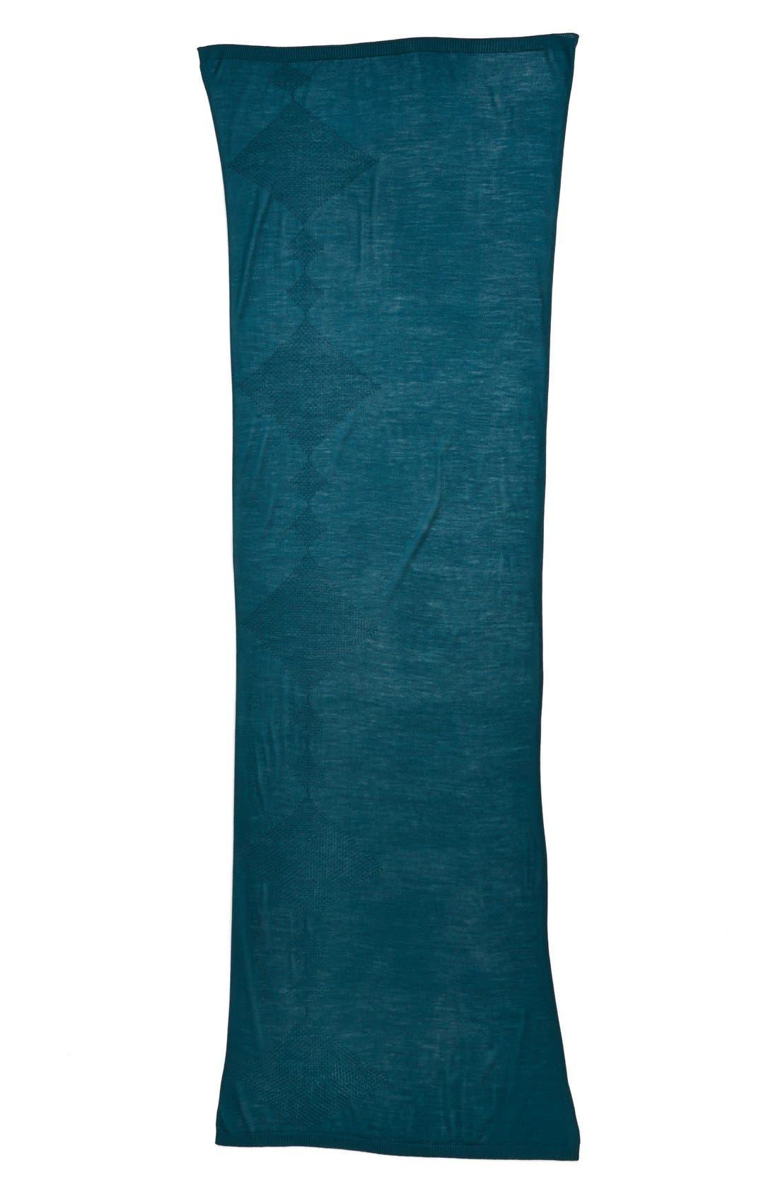 Alternate Image 2  - Halogen® Diamond Stitch Wool Blend Wrap