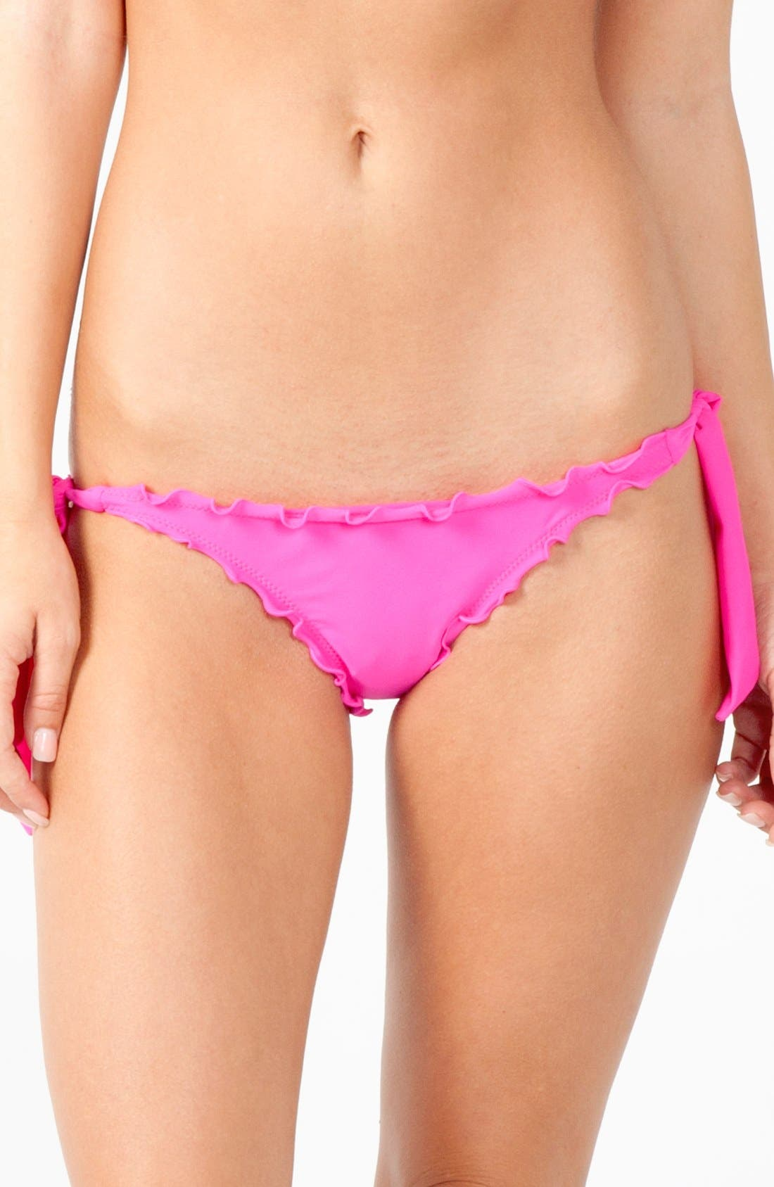 Alternate Image 2  - Rip Curl 'Love N Surf - Booty Pant' Side Tie Ruffled Bikini Bottoms (Juniors)