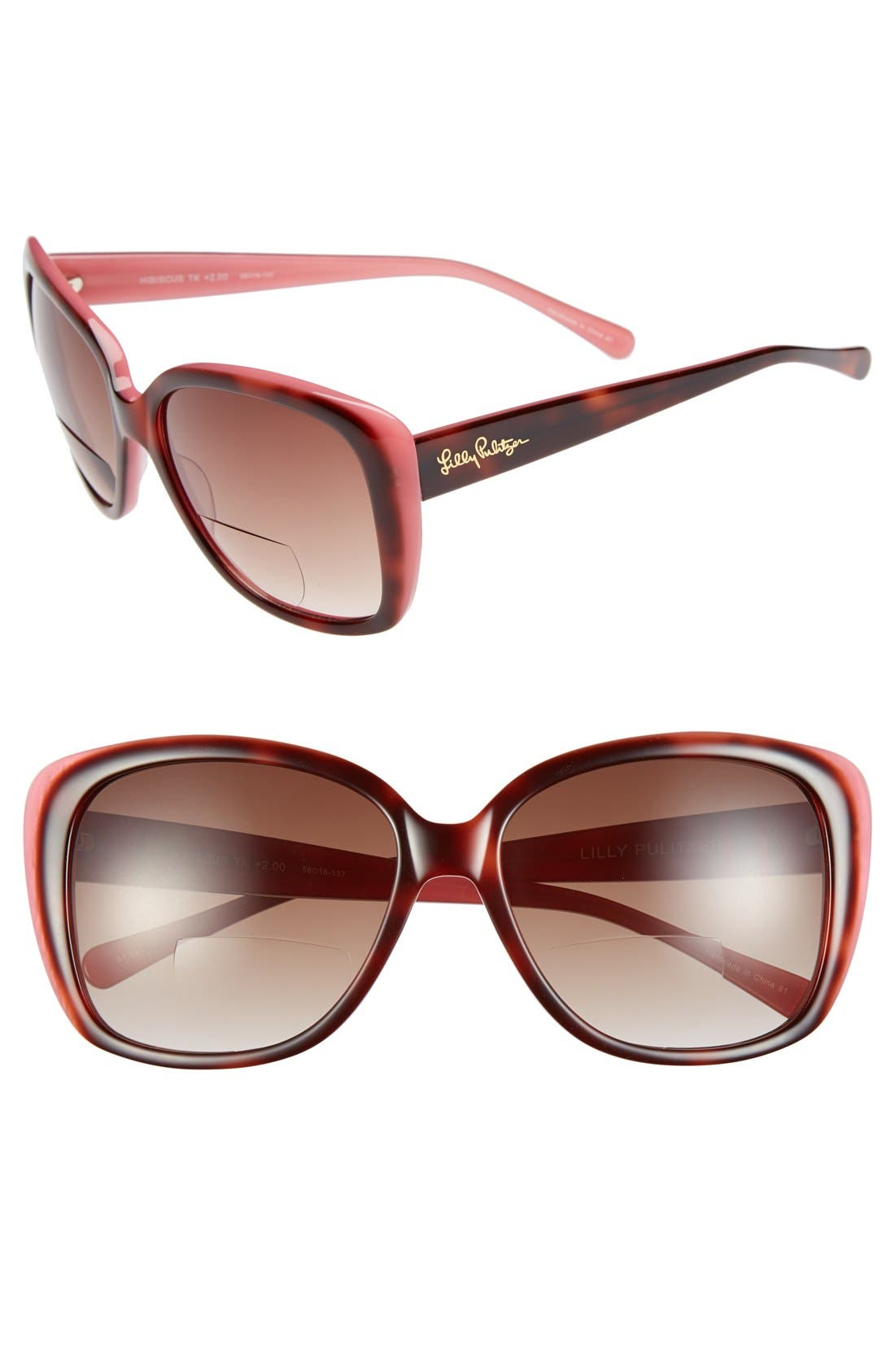 Main Image - Lilly Pulitzer 'Hibiscus' 58mm Reading Sunglasses