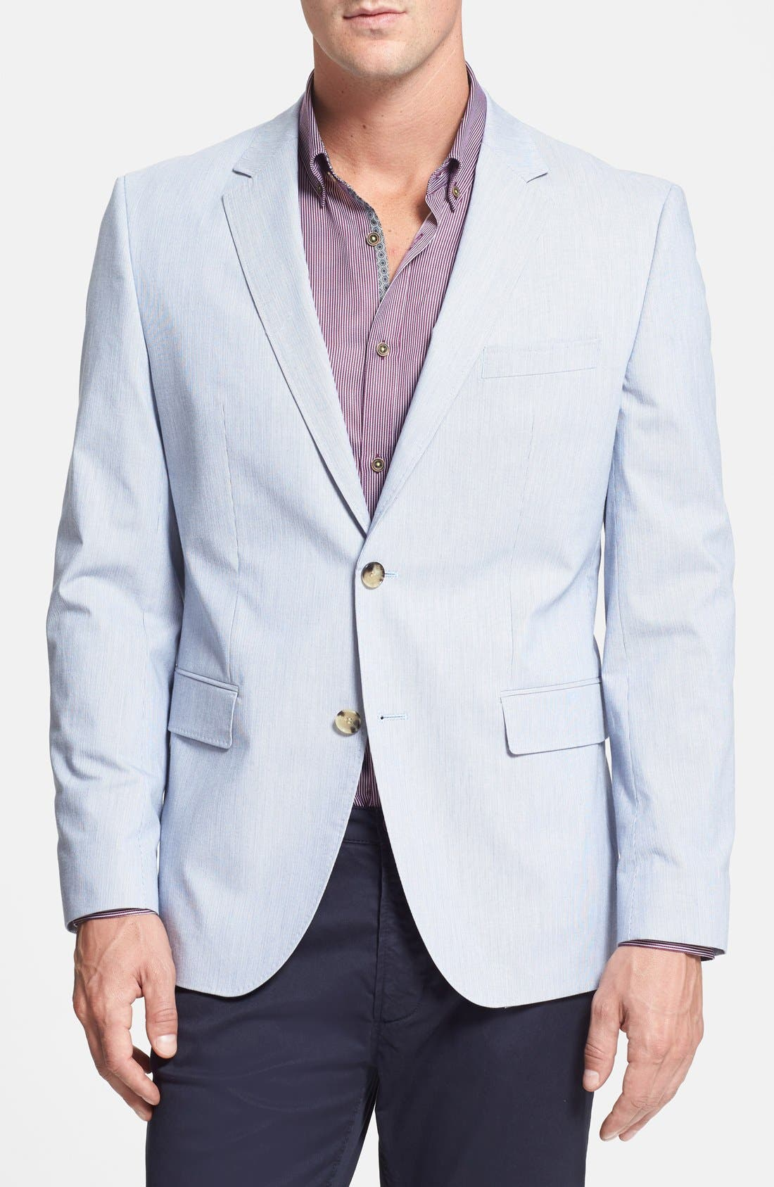 Main Image - BOSS HUGO BOSS 'The Coast' Trim Fit Stretch Cotton Stripe Sportcoat