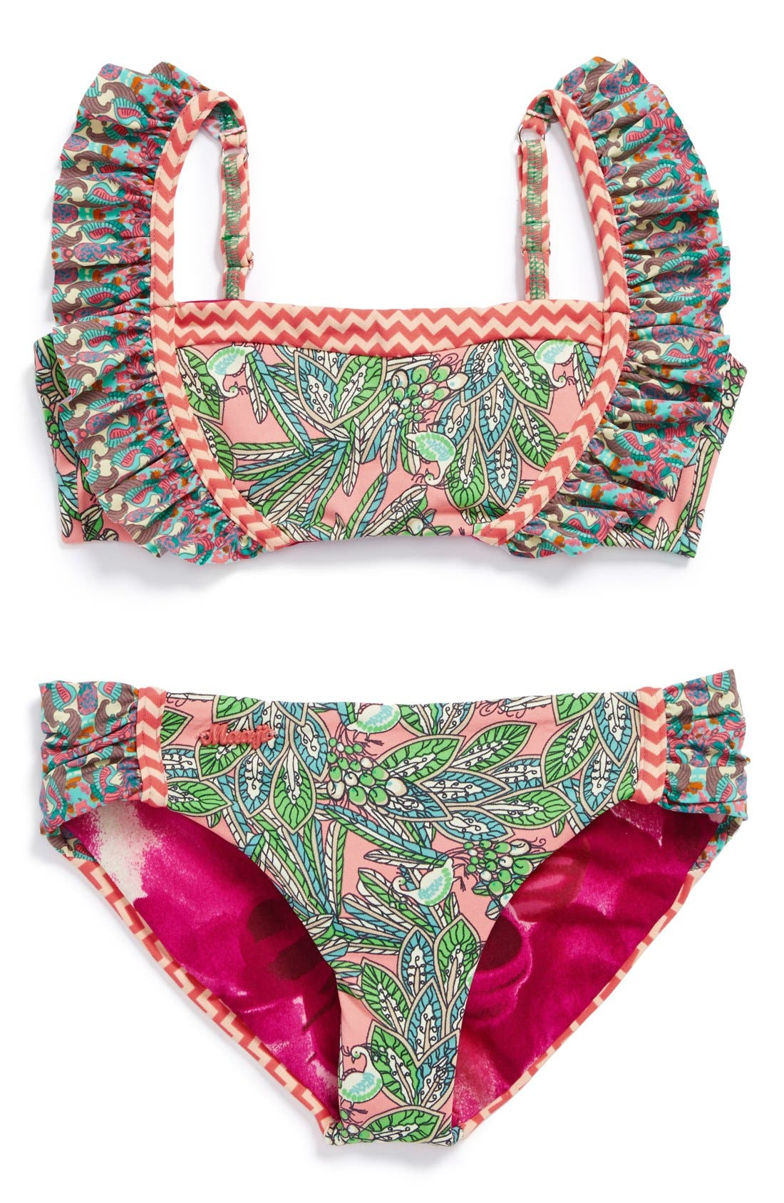 Alternate Image 1 Selected - Maaji 'Coral Waves' Two-Piece Swimsuit (Big Girls)