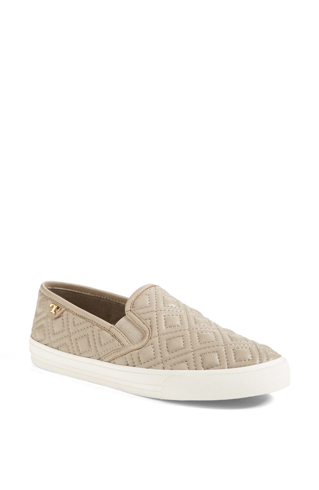 Main Image - Tory Burch 'Jesse' Quilted Leather Sneaker