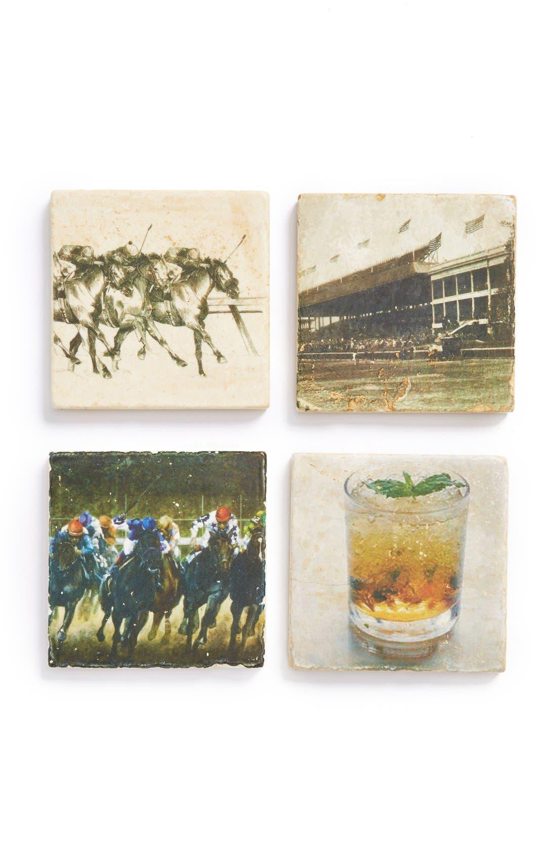 Main Image - Studio Vertu 'Derby II' Marble Coasters (Set of 4)