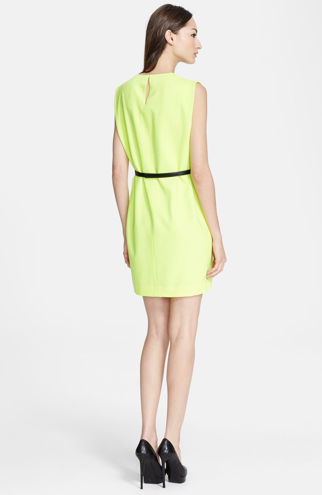 Alternate Image 2  - Saint Laurent Sleeveless Wool Crepe Shift Dress