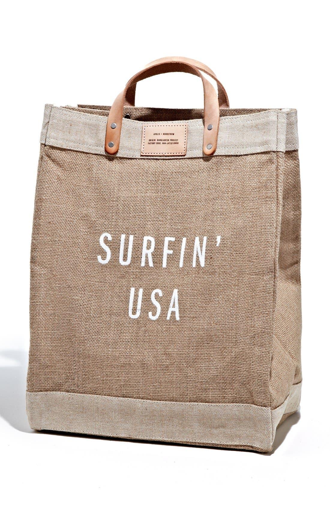 Alternate Image 1 Selected - Apolis 'Surfin USA' Market Bag