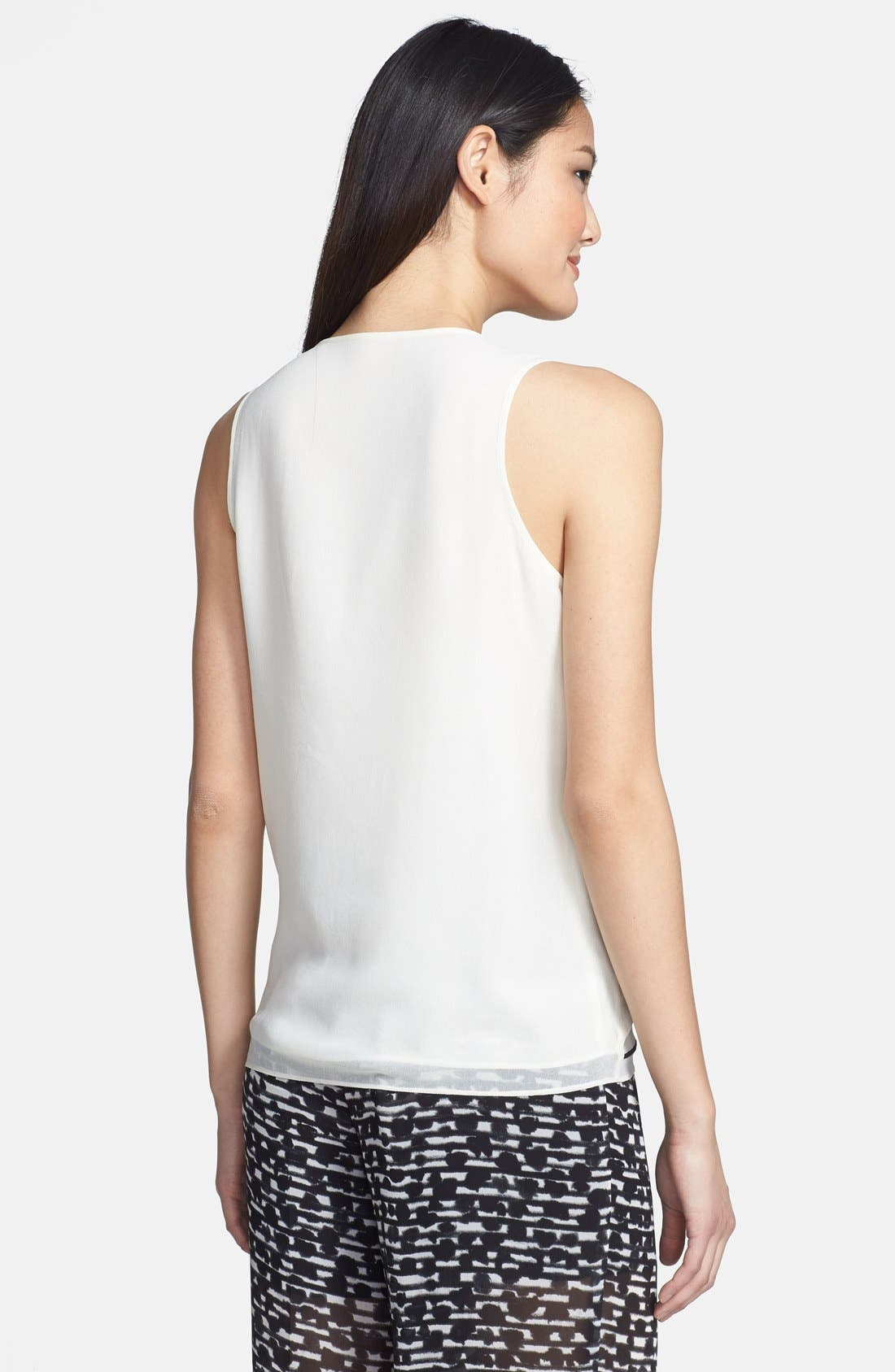 Alternate Image 2  - Vince Camuto Embroidered Woven Tank