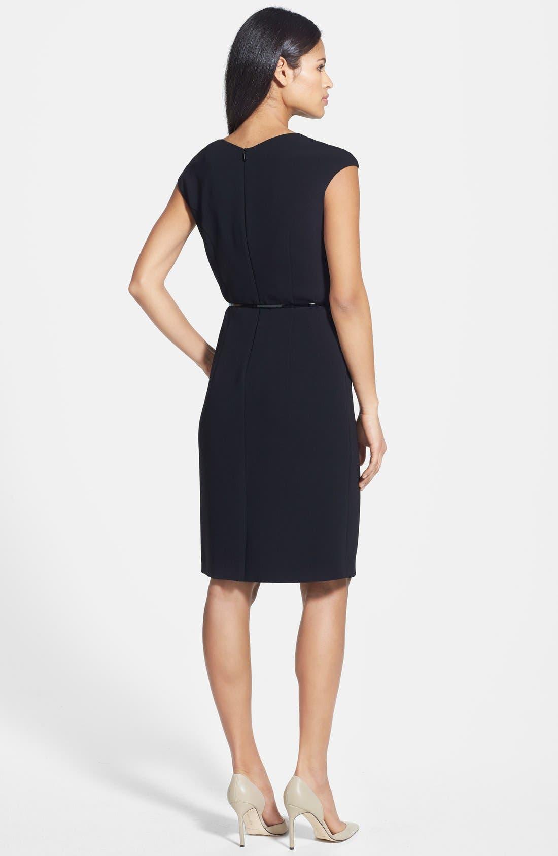 Alternate Image 2  - BOSS 'Daliyana' Belted Sheath Dress
