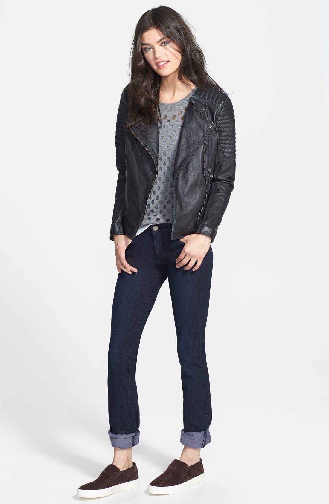 Alternate Image 4  - Paige Denim 'Skyline' Straight Leg Jeans (Palmer) (Nordstrom Exclusive)