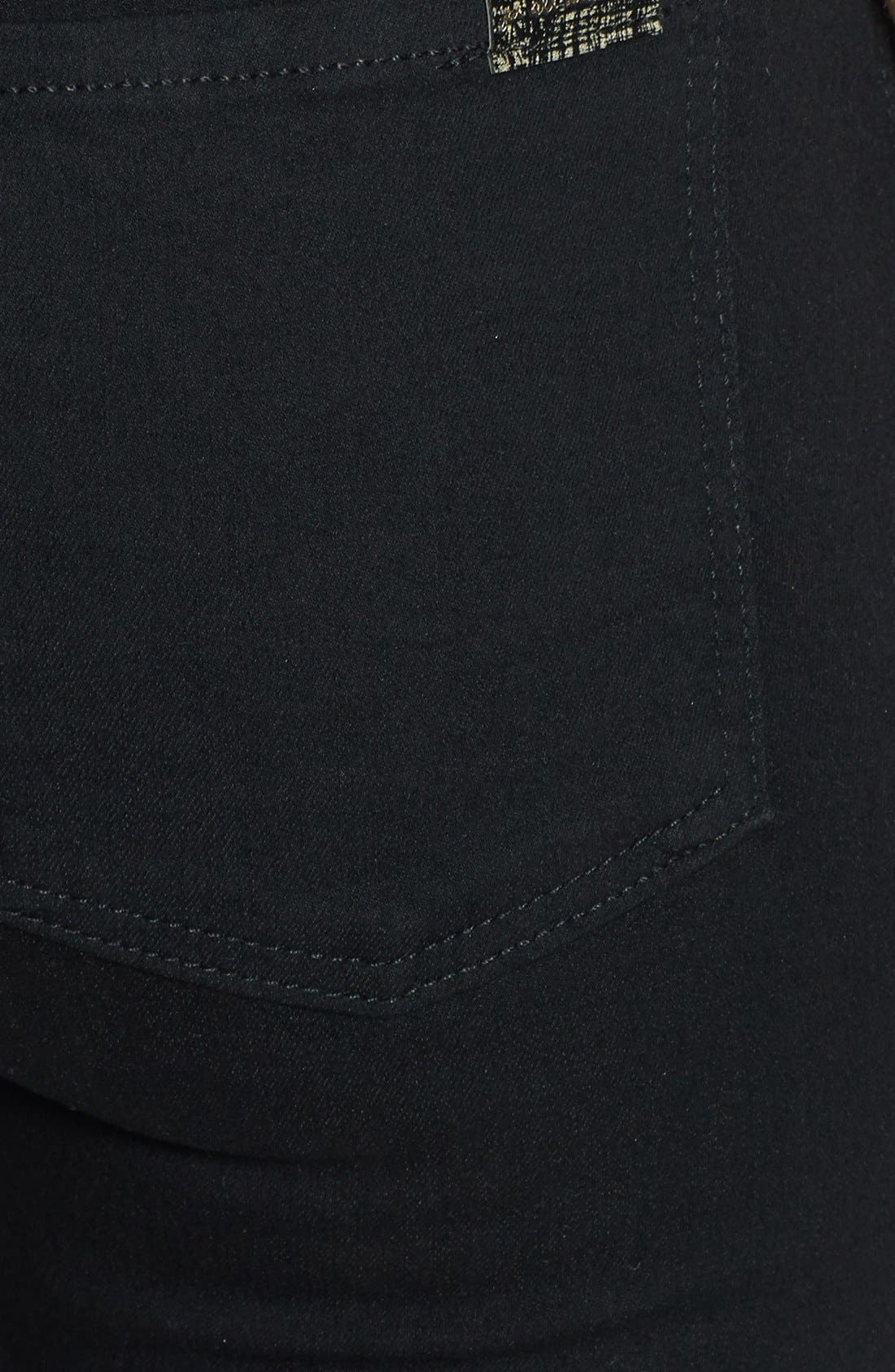Alternate Image 3  - 7 For All Mankind® High Rise Ankle Skinny Jeans (Elasticity Black)