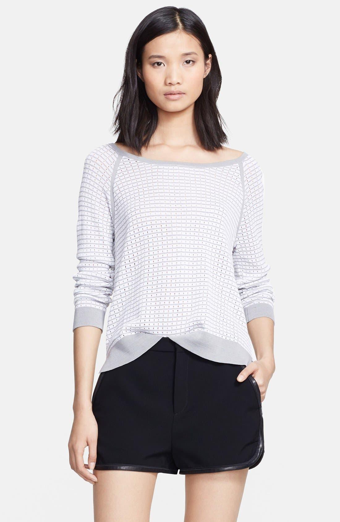 Alternate Image 1 Selected - rag & bone 'Arianna' Raglan Pointelle Sweater