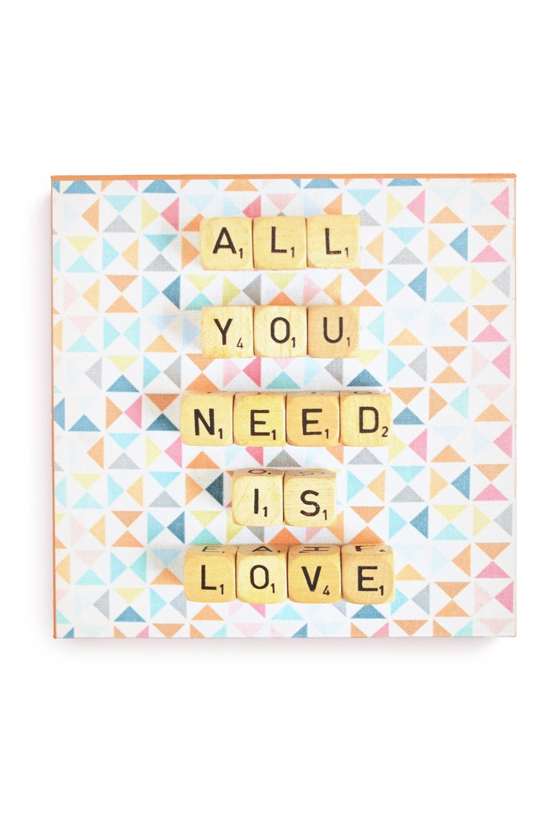 Alternate Image 1 Selected - DENY Designs 'Happee Monkee - All You Need Is Love' Canvas Wall Art