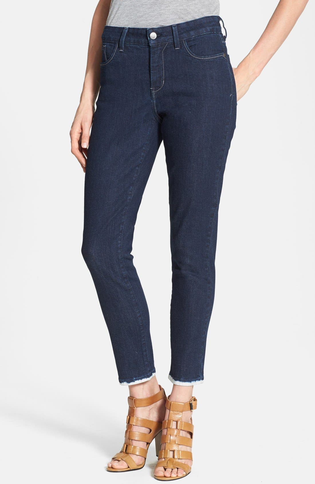 Alternate Image 1 Selected - NYDJ 'Everleigh' Ankle Skinny Jeans (Immersed Bleach) (Petite)